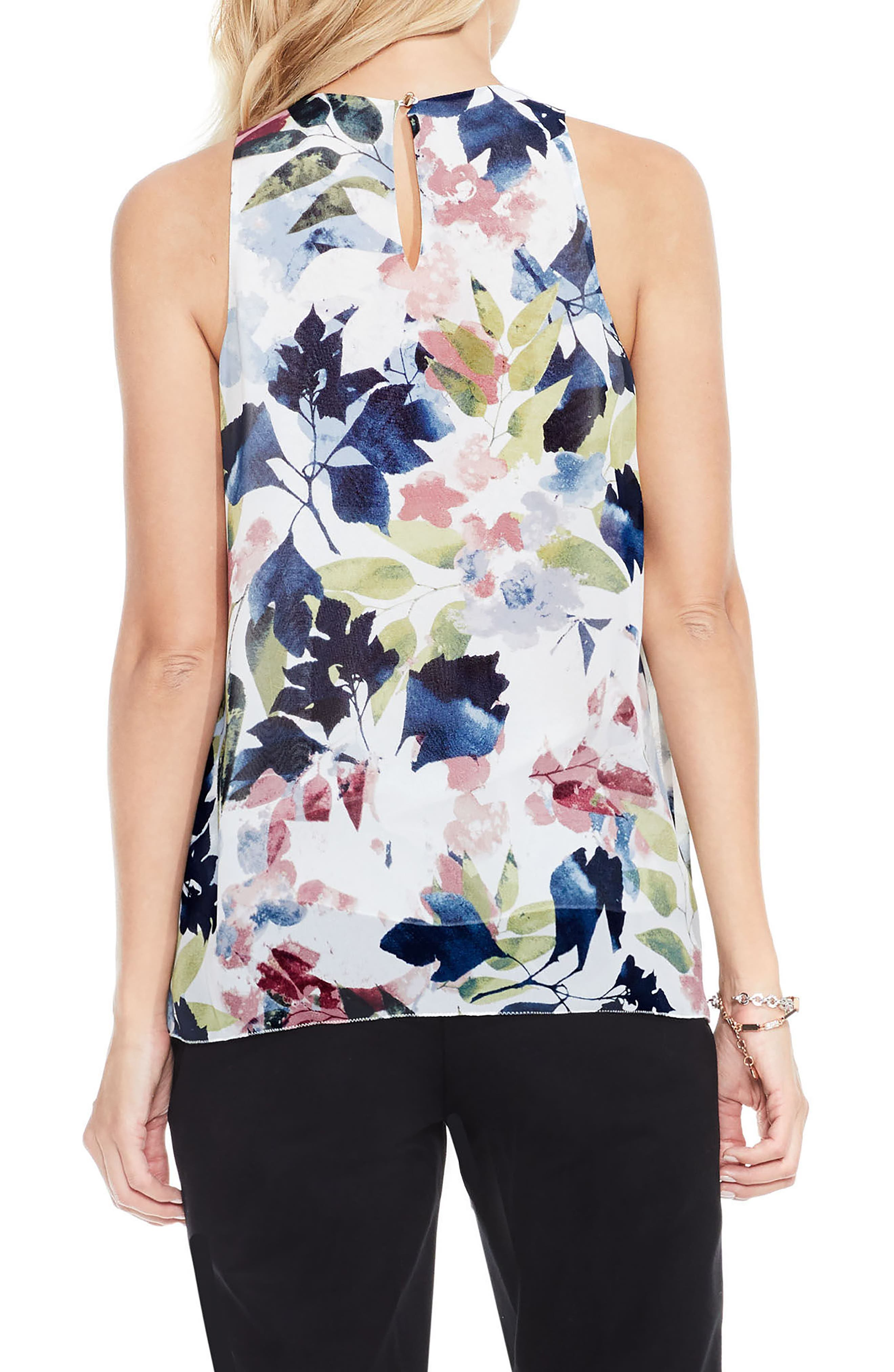 Alternate Image 2  - Vince Camuto Garden Expressions Sleeveless Crepe Blouse