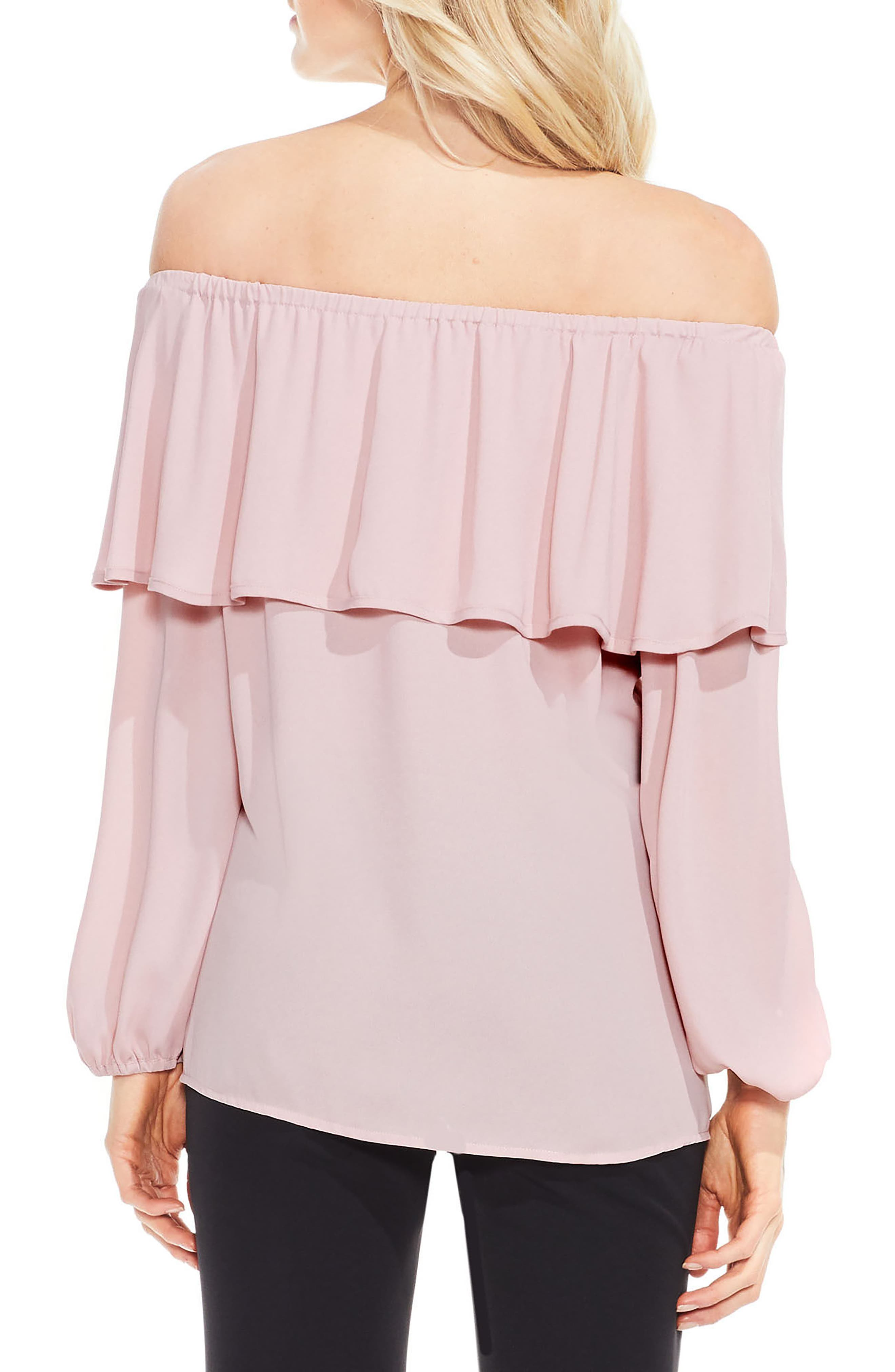 Alternate Image 2  - Vince Camuto Ruffle Off the Shoulder Blouse