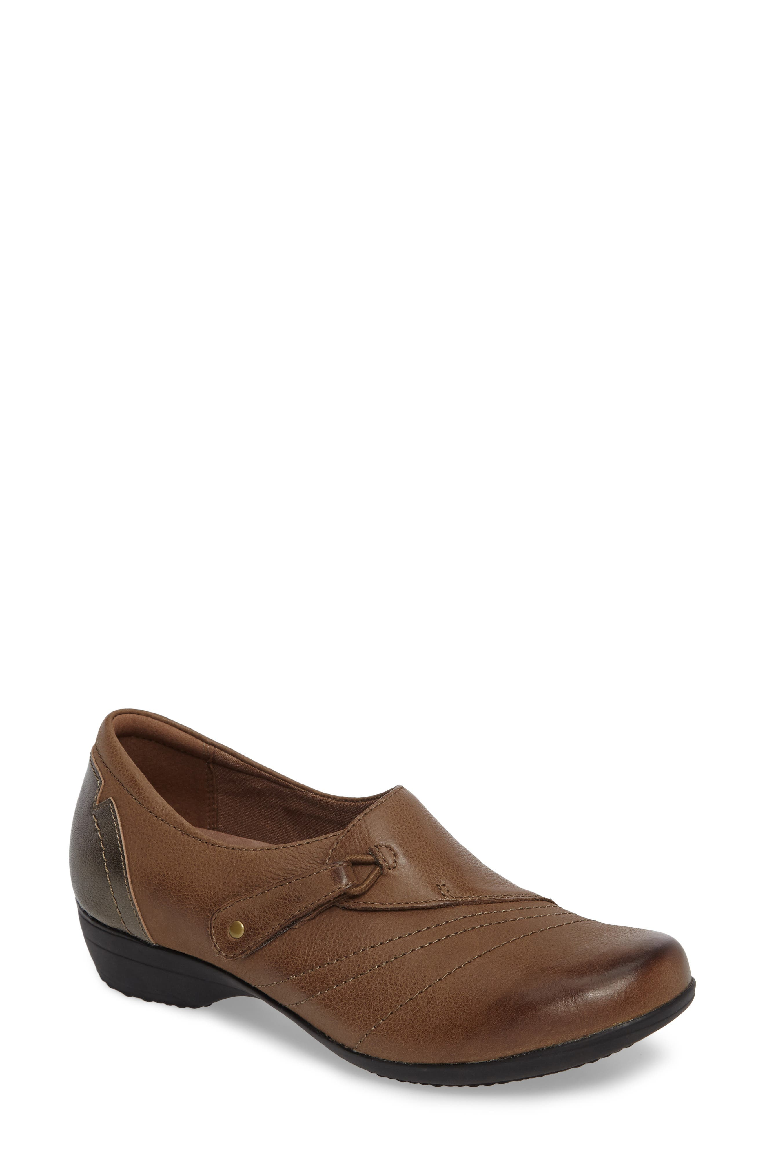 Franny Loafer,                         Main,                         color, Taupe Burnished Nappa Leather