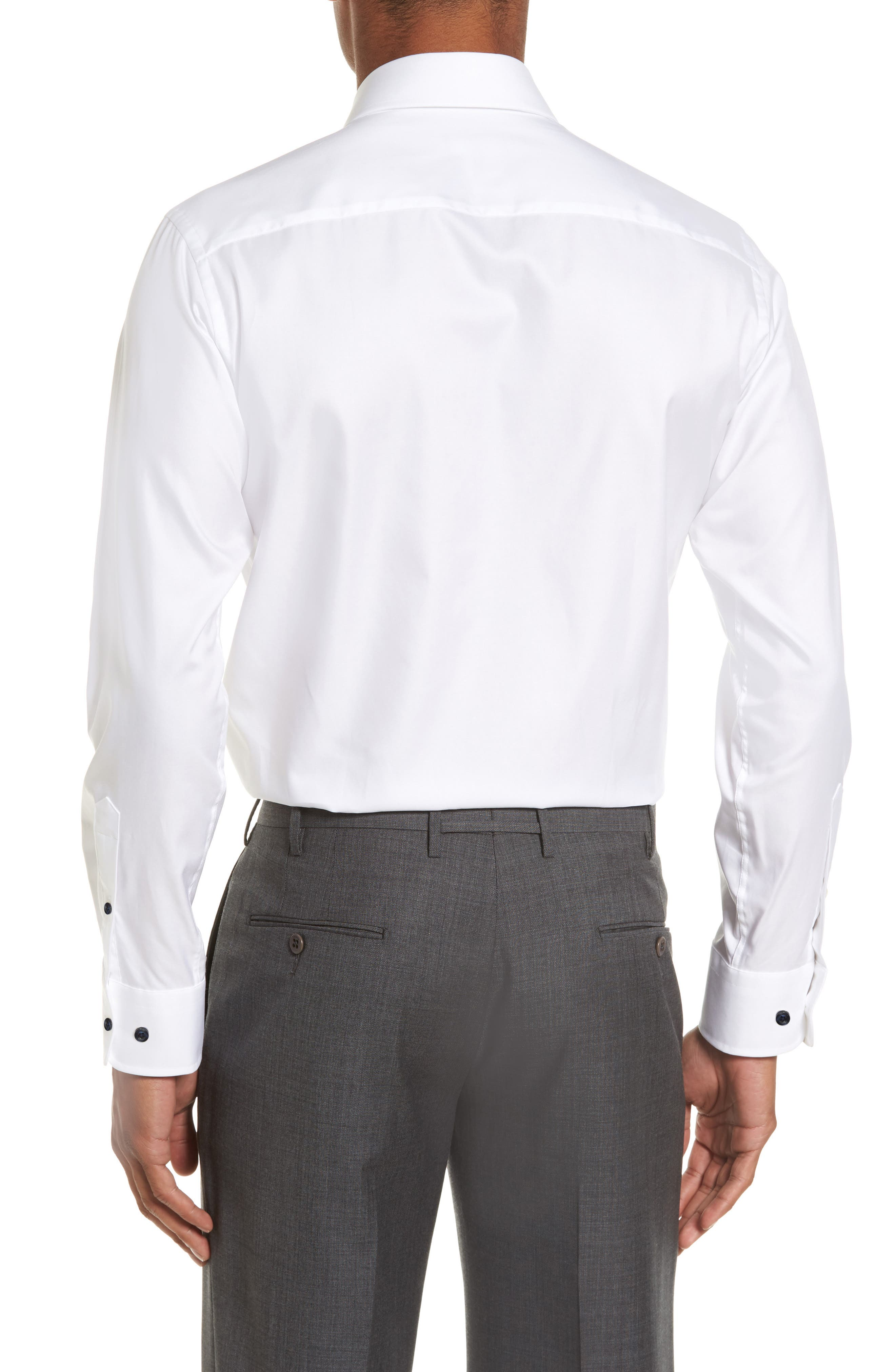 Alternate Image 2  - David Donahue Slim Fit Solid Dress Shirt