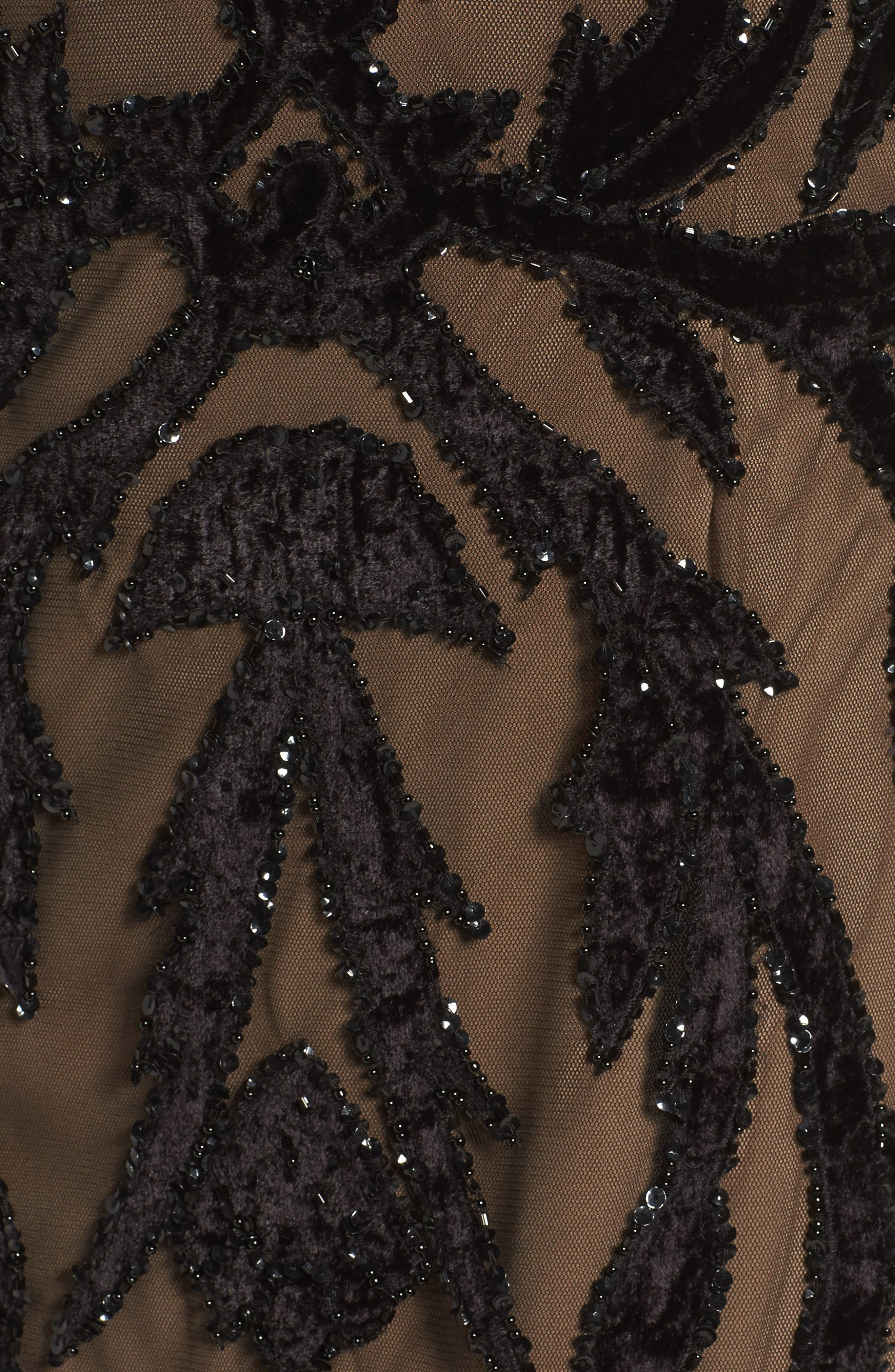 Alternate Image 5  - Adrianna Papell Beaded Mesh Gown