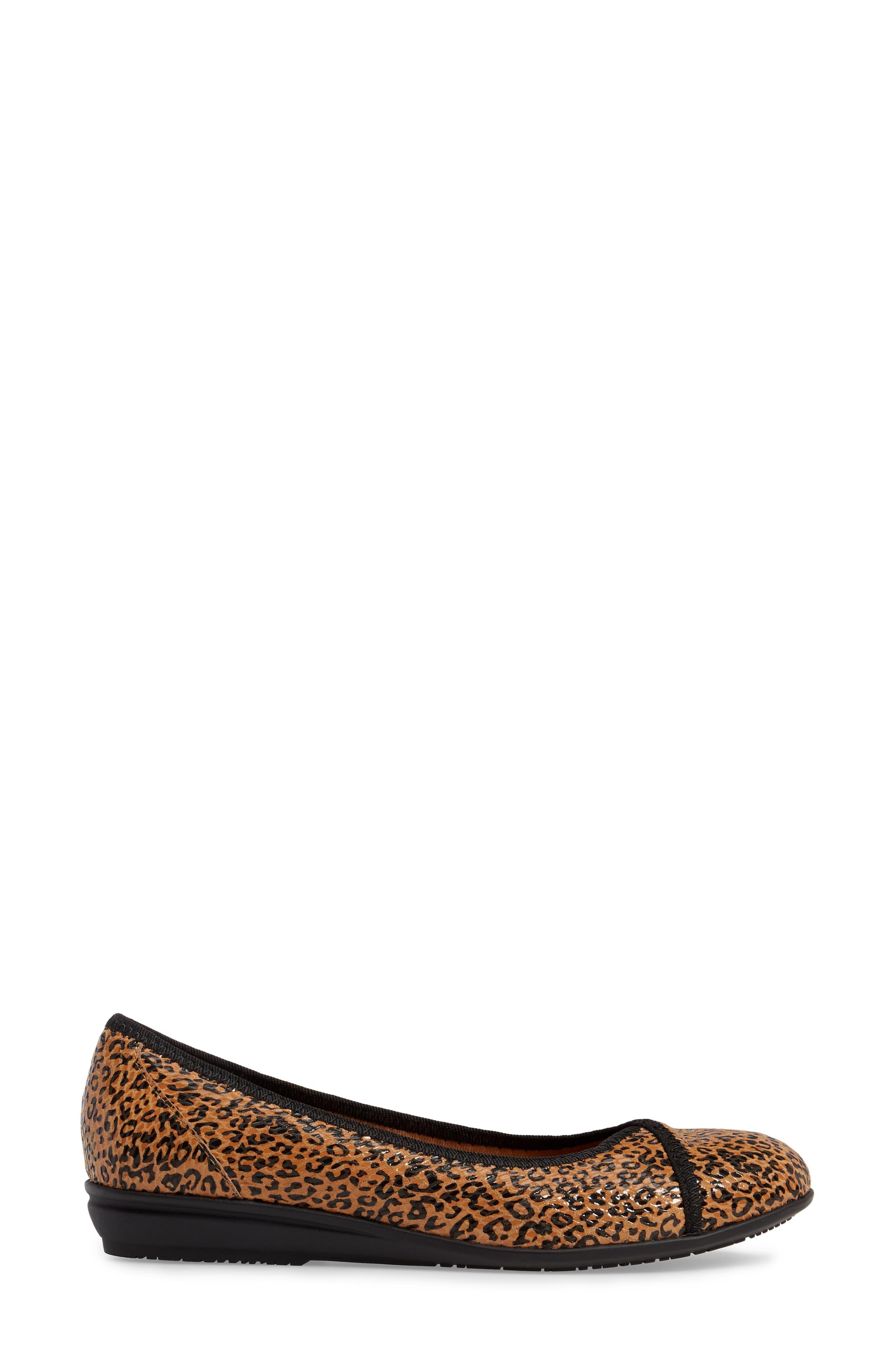 Eaton Flat,                             Alternate thumbnail 3, color,                             Tan Leopard Suede