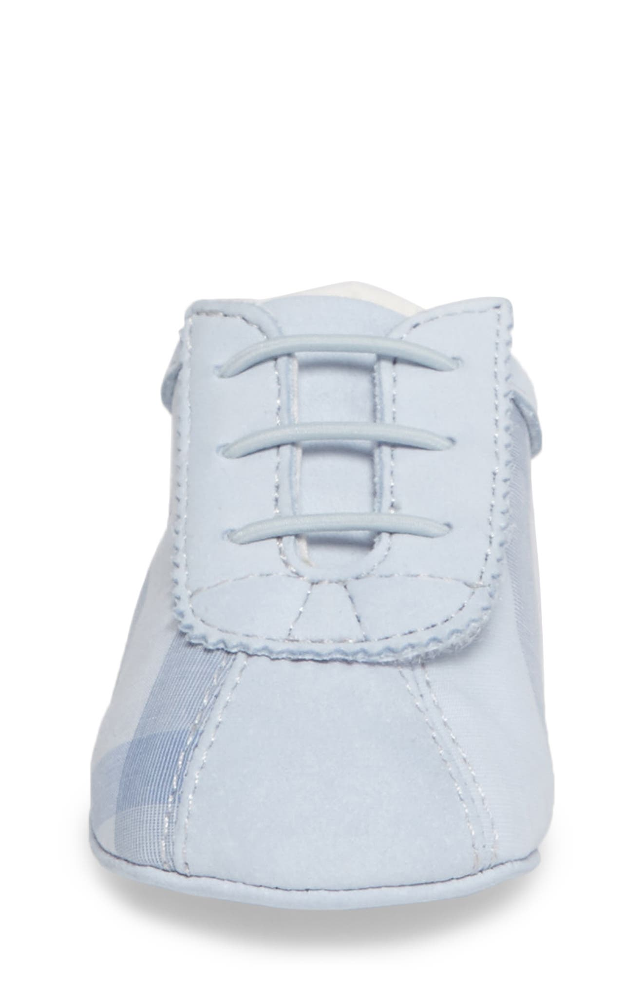 'Bosco' Crib Shoe,                             Alternate thumbnail 4, color,                             Ice Blue