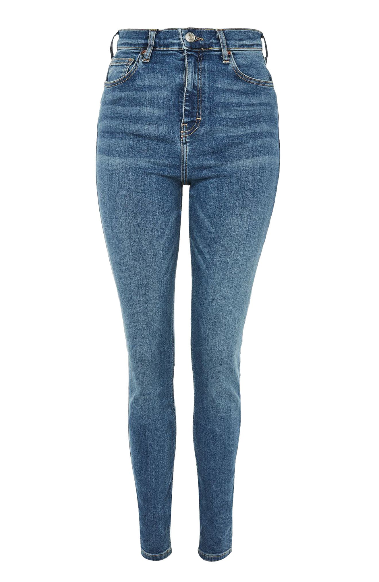Alternate Image 4  - Topshop Jamie High Waist Ankle Skinny Jeans (Tall)