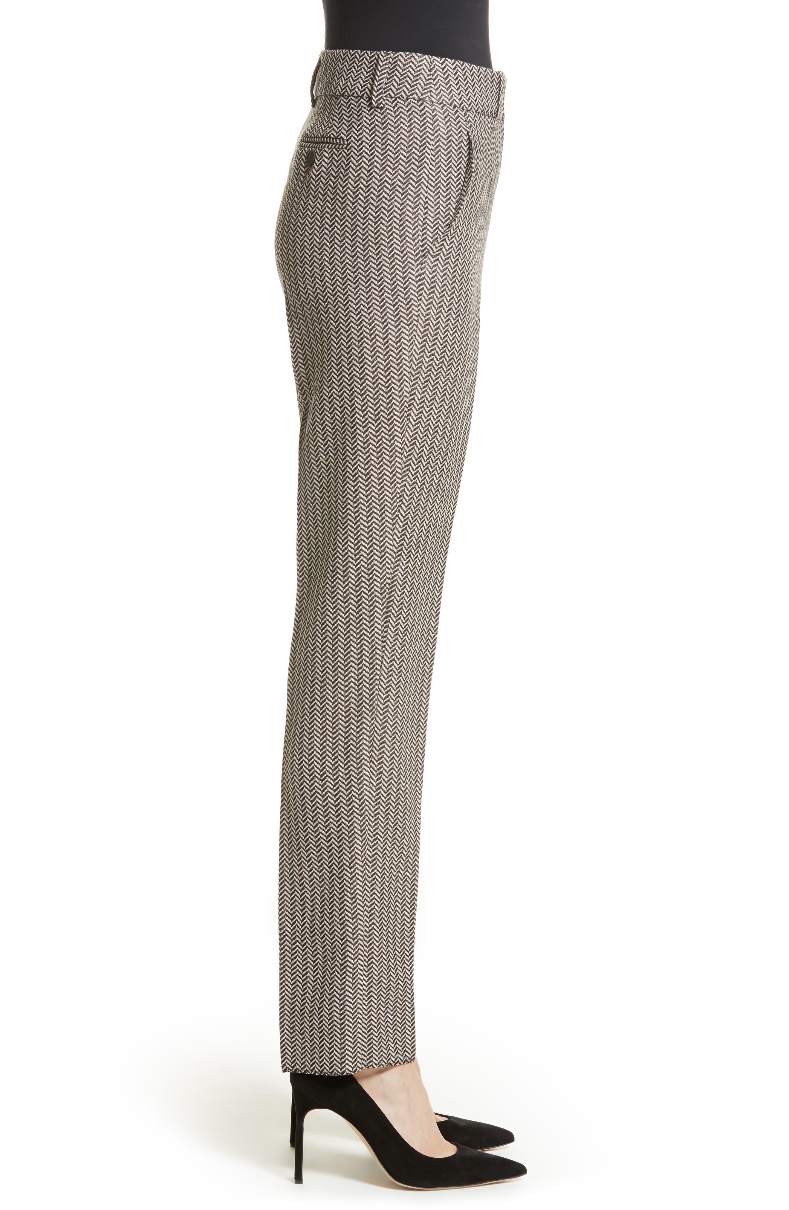 Alternate Image 4  - Armani Collezioni Herringbone Slim Pants