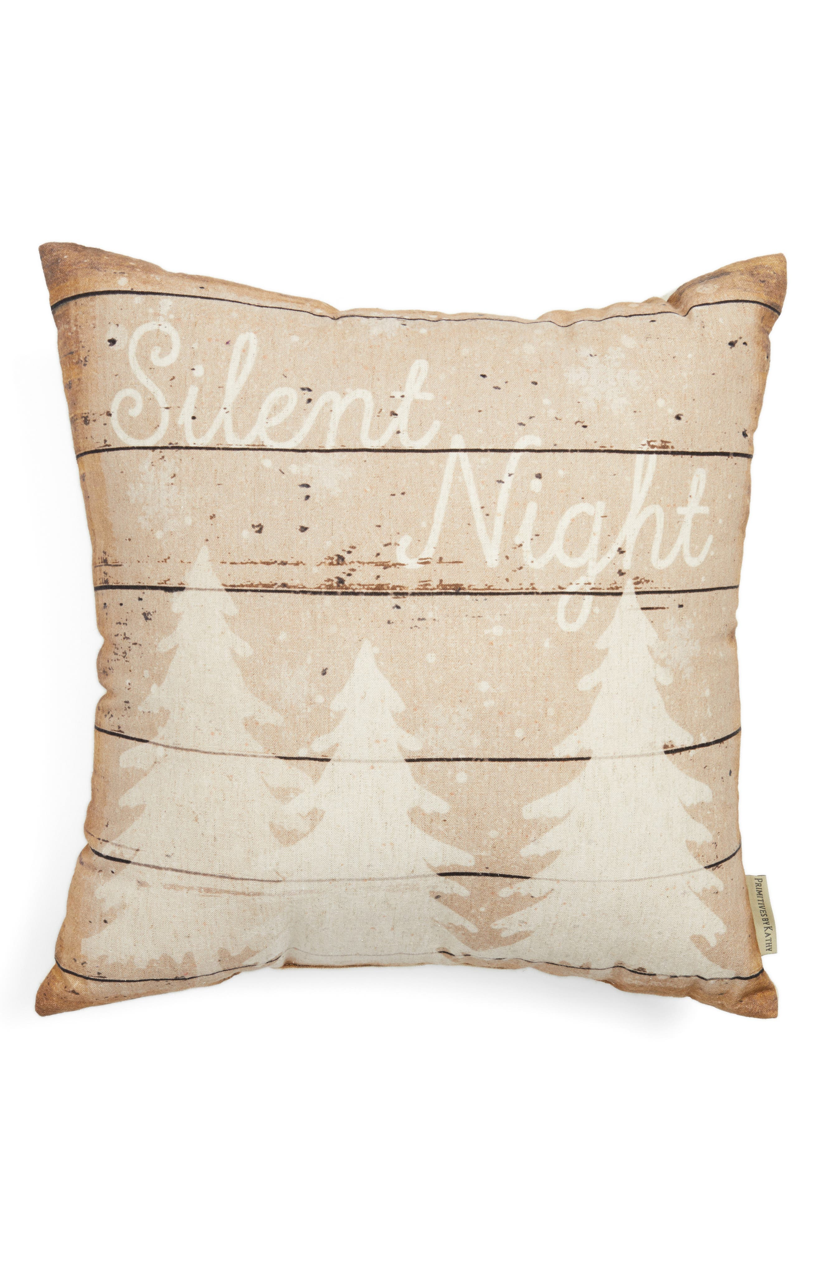 Silent Night Pillow,                             Main thumbnail 1, color,                             Ivory