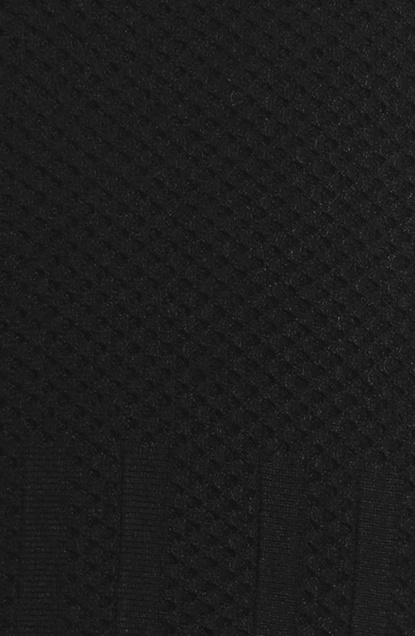 Peplum Hem Dress,                             Alternate thumbnail 3, color,                             Black