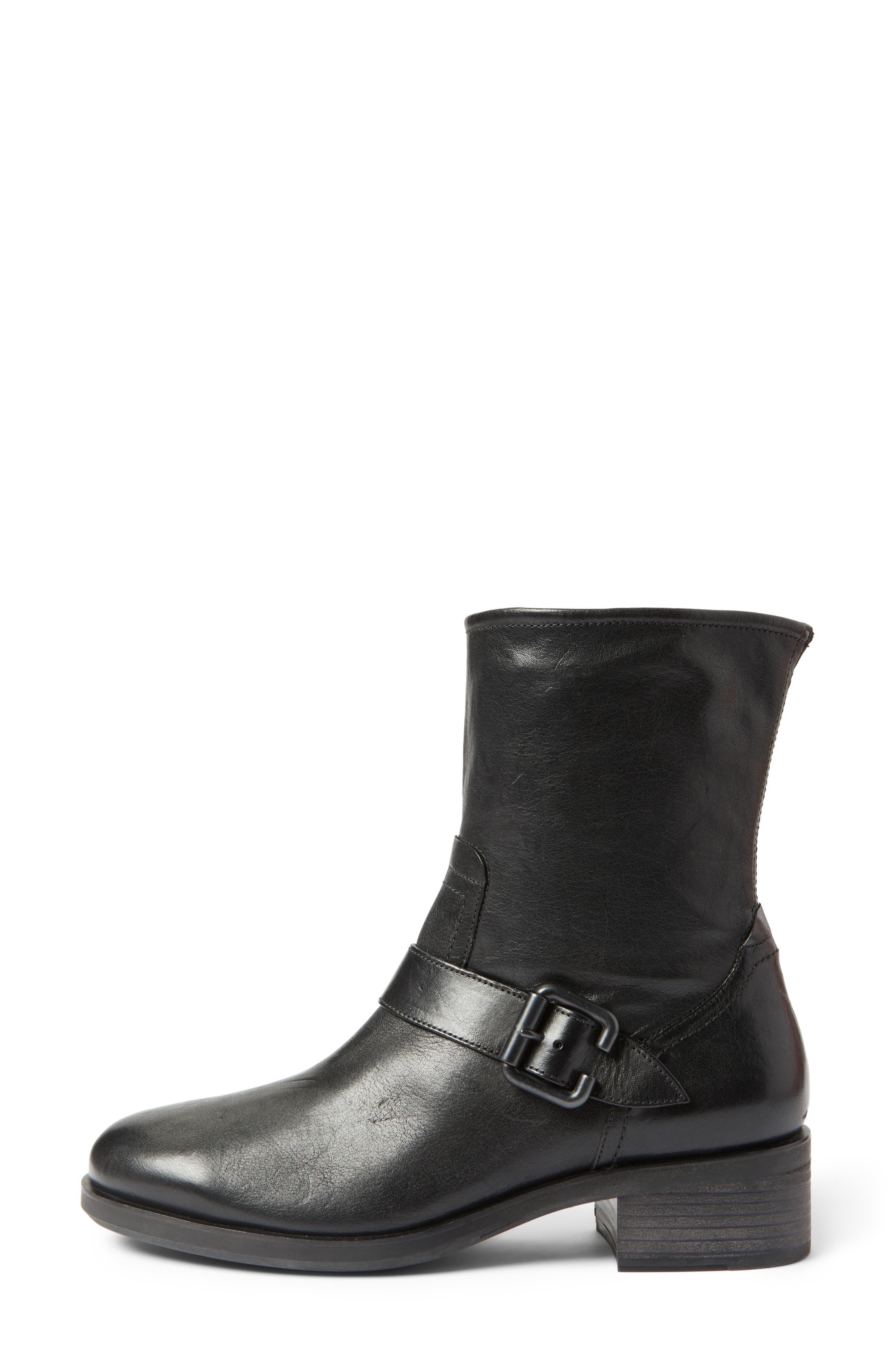 Nixon Moto Boot,                             Alternate thumbnail 3, color,                             Black Leather