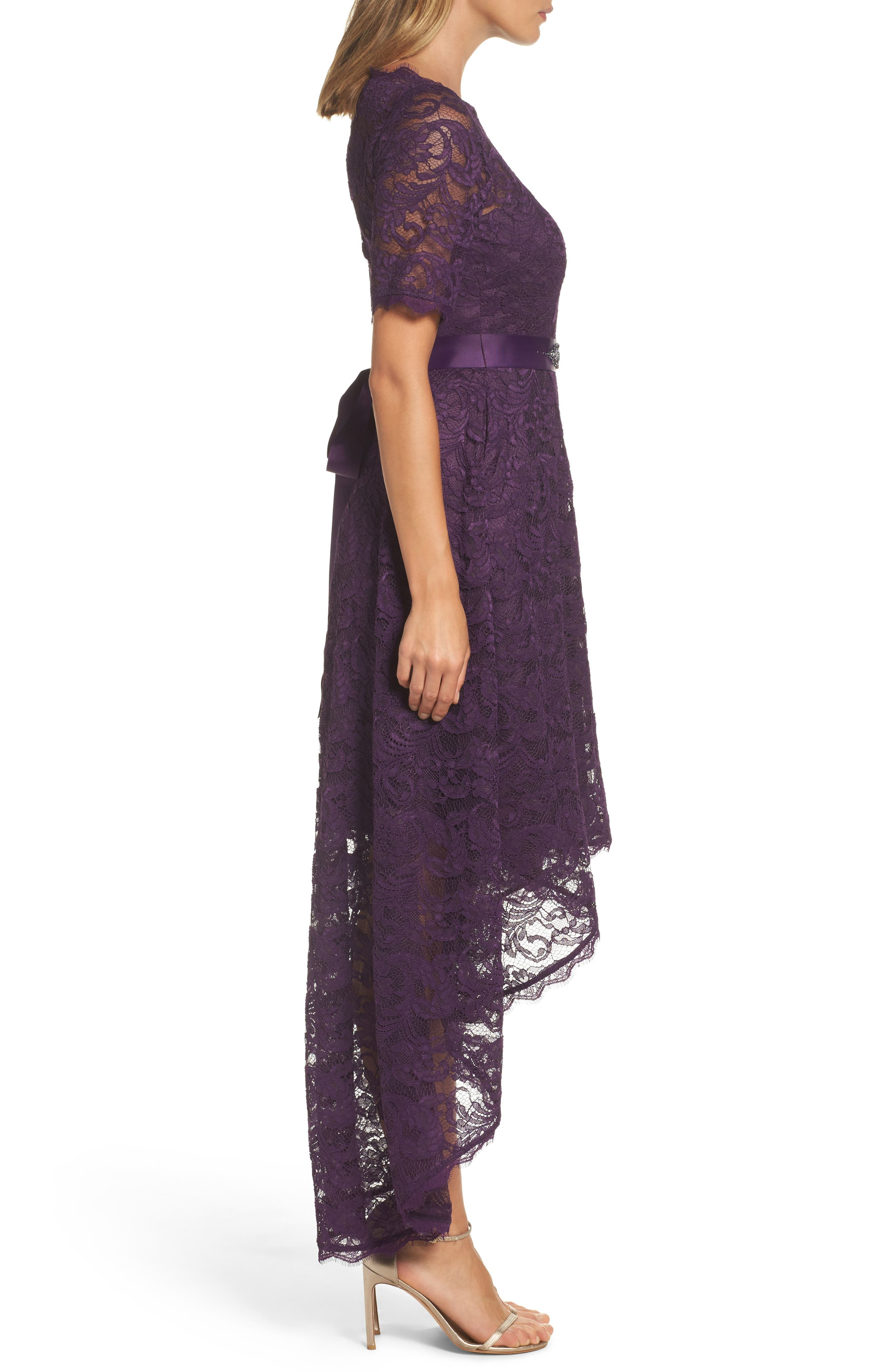 Alternate Image 3  - Adrianna Papell High/Low Lace Dress