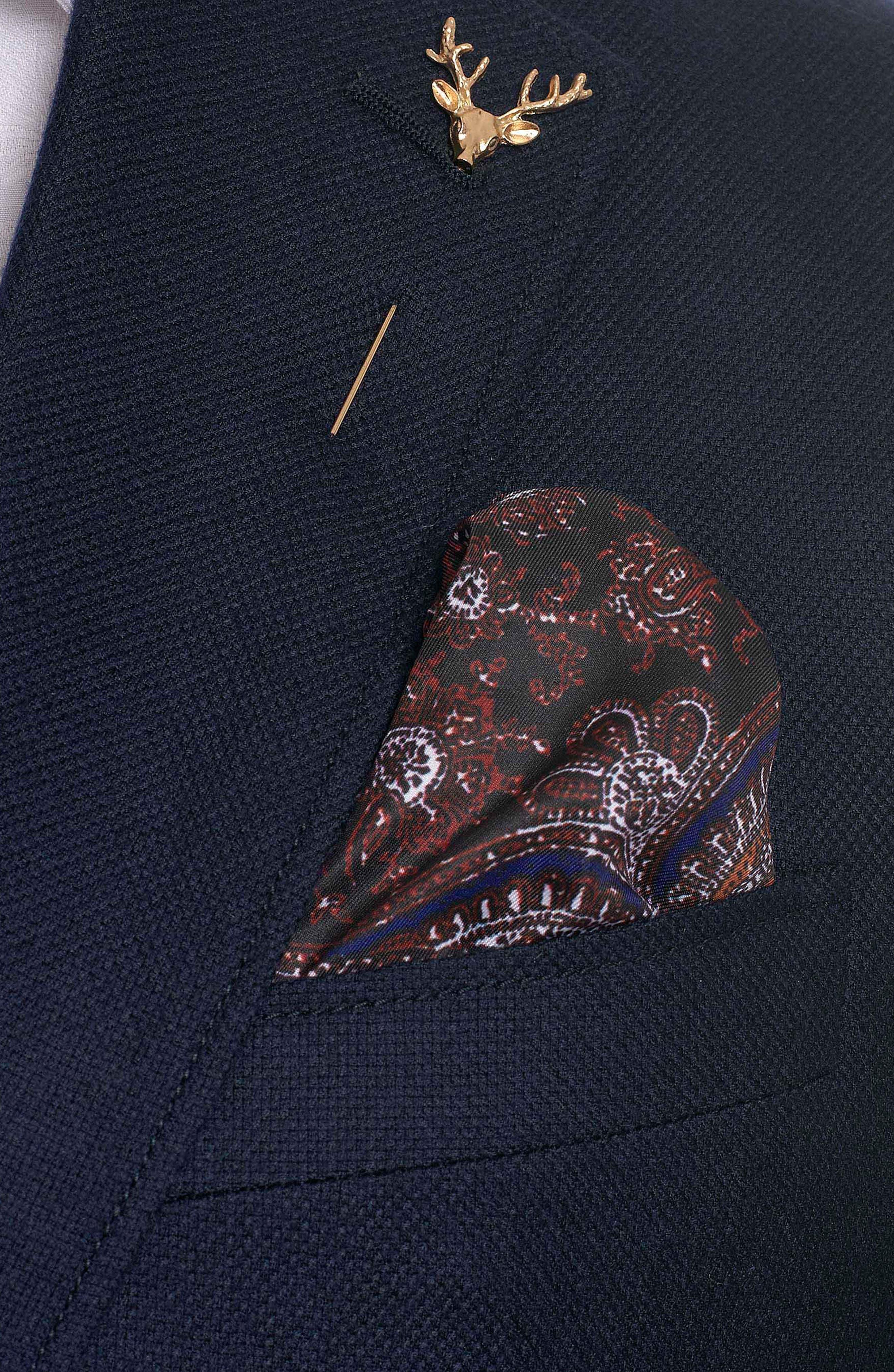 Newburgh Classic Fit Cashmere Sport Coat,                             Alternate thumbnail 5, color,                             Navy
