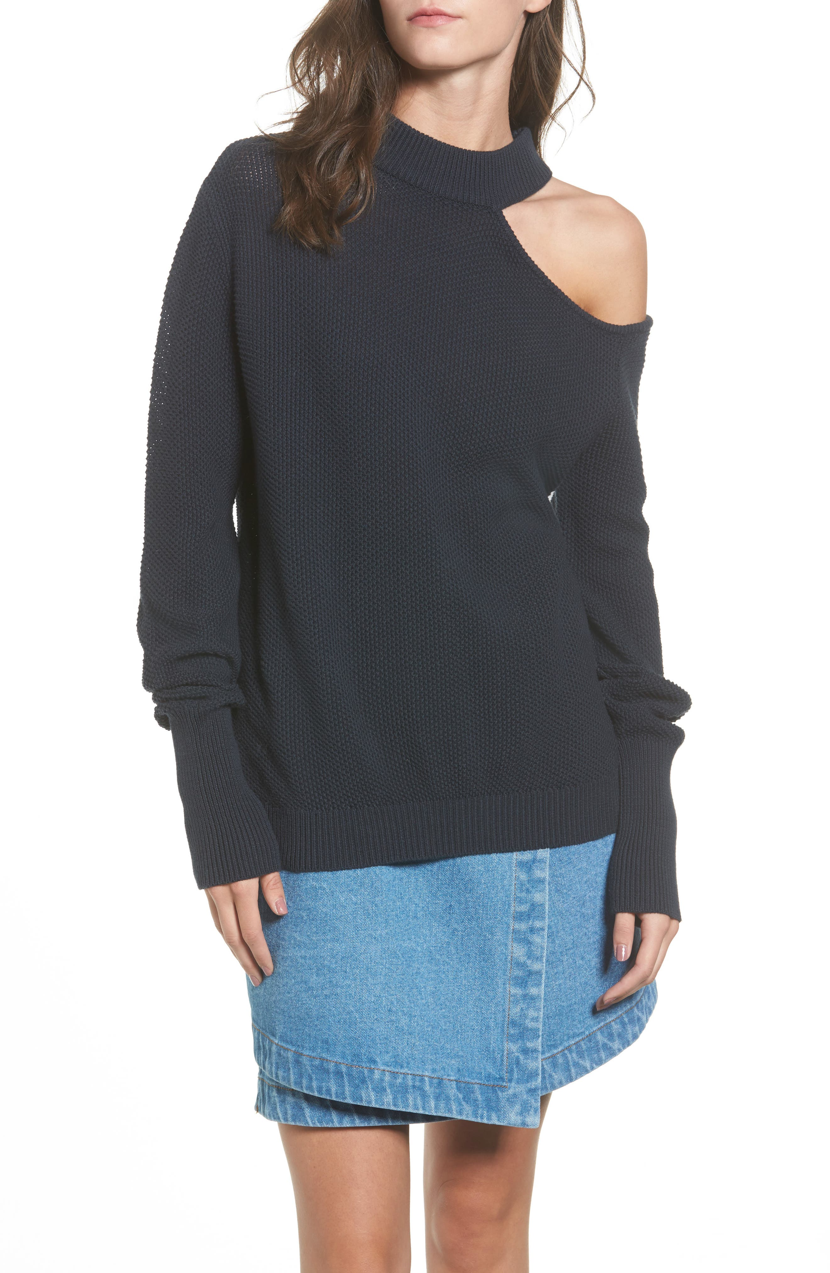 The Fifth Label Impression Cold-Shoulder Sweater