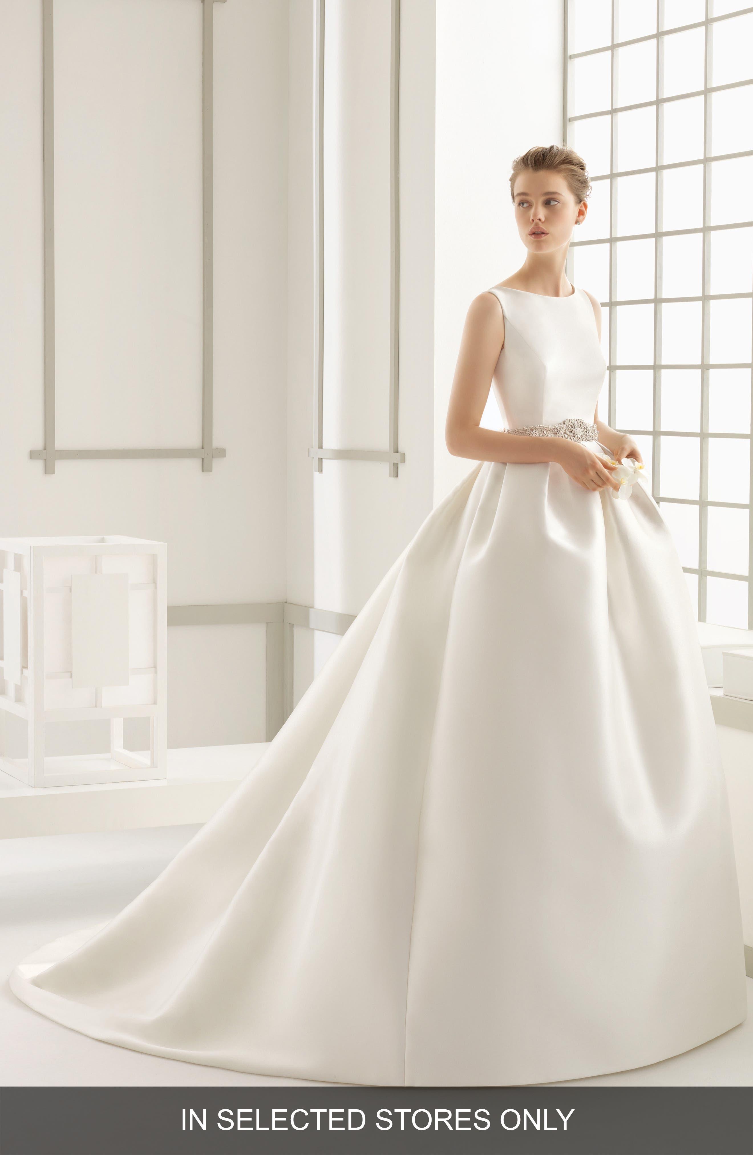 Main Image - Rosa Clara Couture Delfos Beaded Back Ballgown Dress