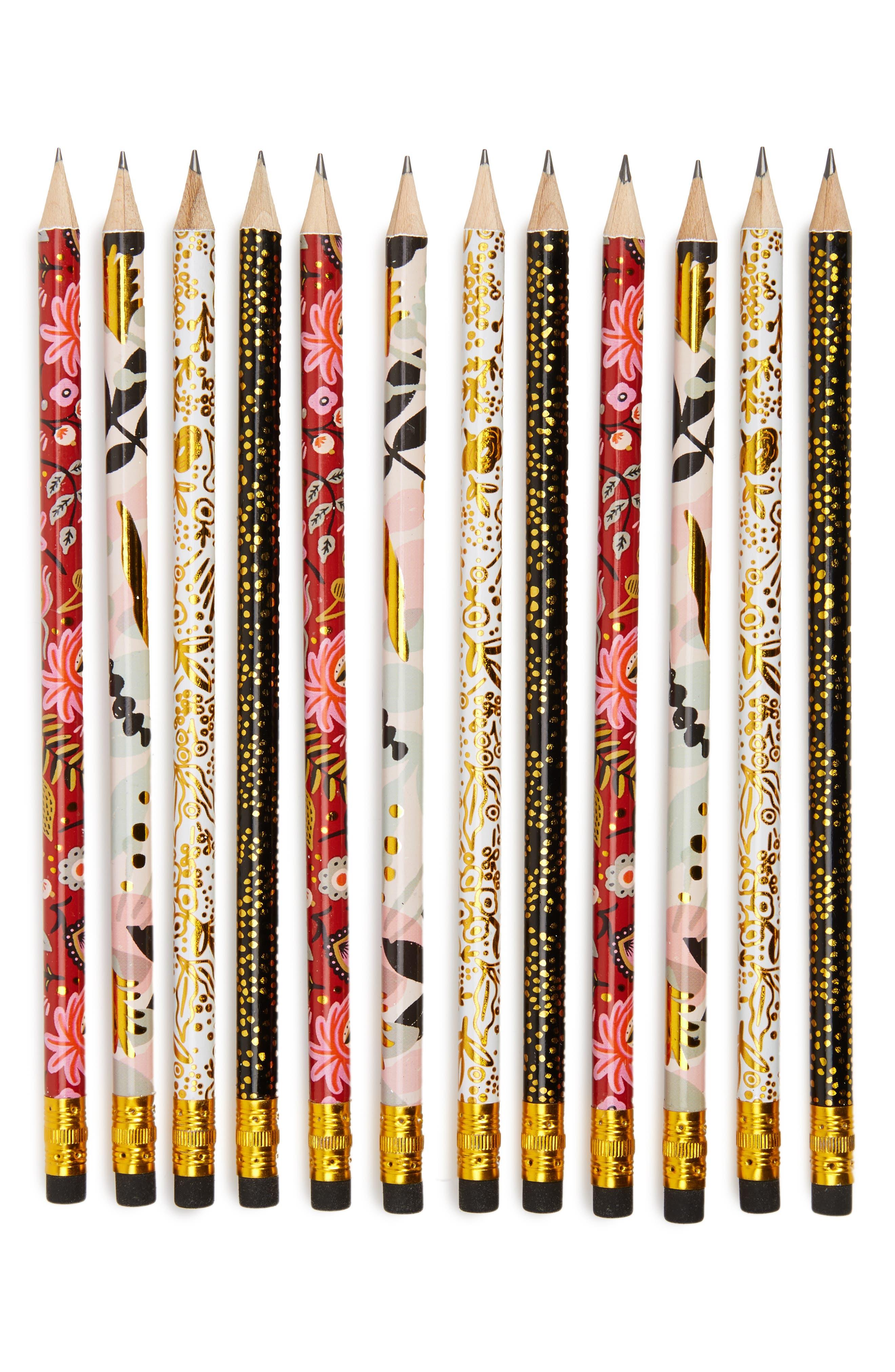 Modernist 12-Pack Pencils,                             Main thumbnail 1, color,                             Black