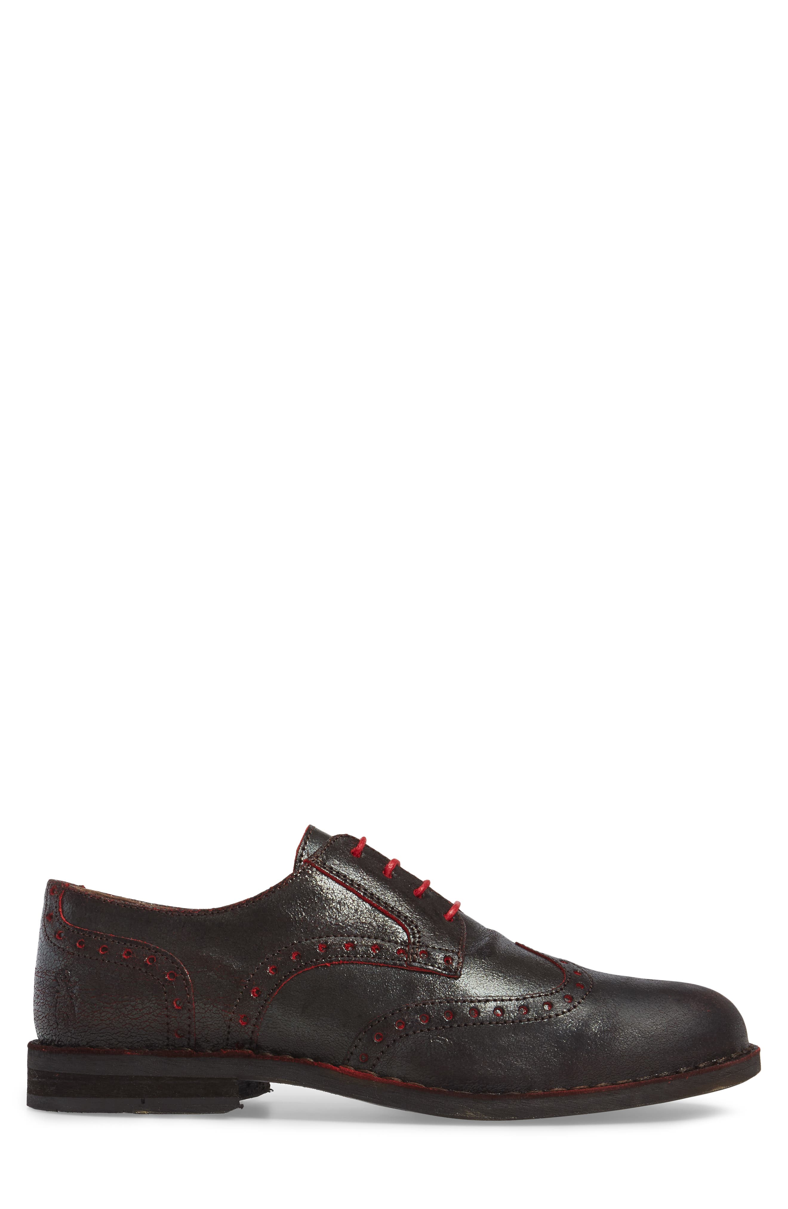 Idal Wingtip,                             Alternate thumbnail 3, color,                             Brown/ Red
