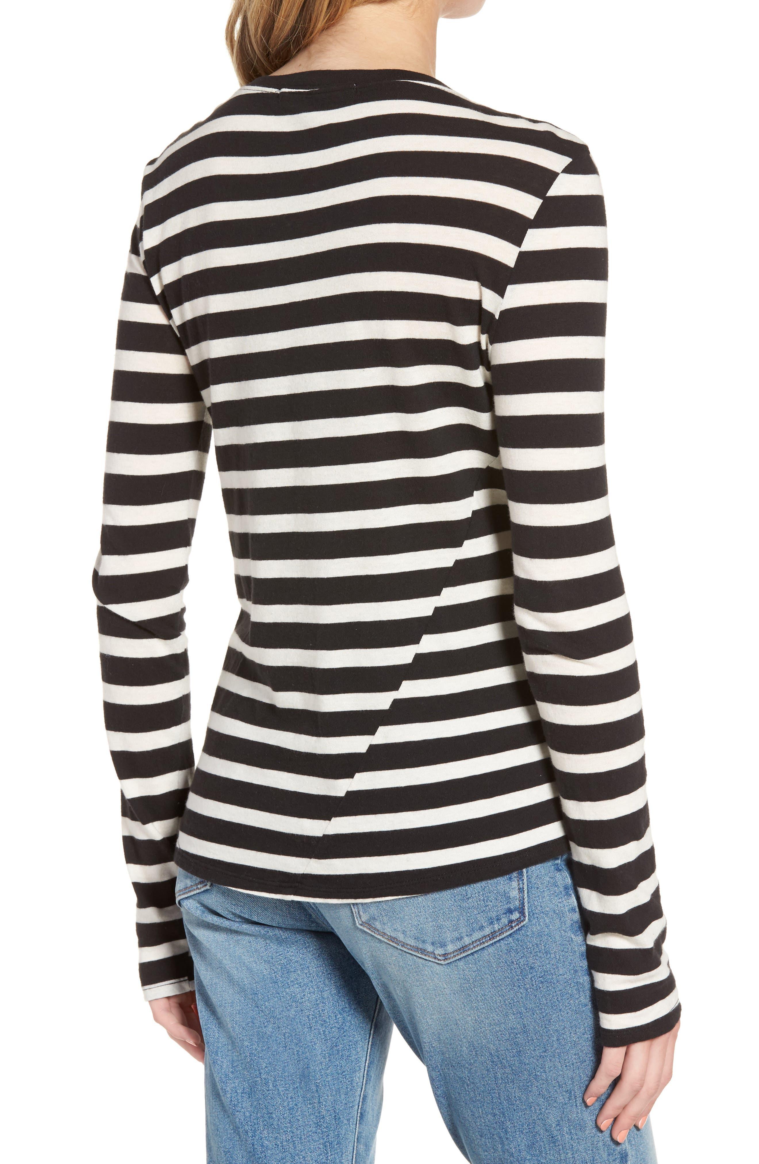 Alternate Image 3  - Pam & Gela Stripe Long Sleeve Top