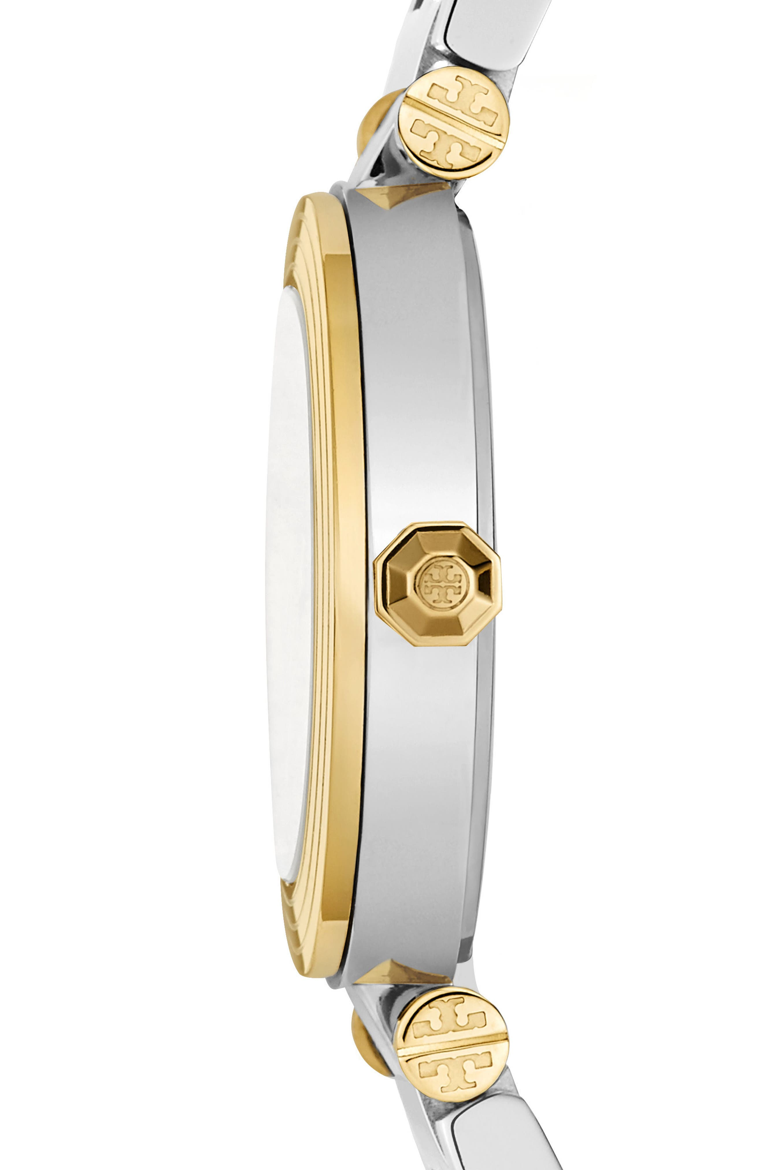 Classic-T Bracelet Watch, 36mm,                             Alternate thumbnail 2, color,                             Silver/ Ivory/ Gold
