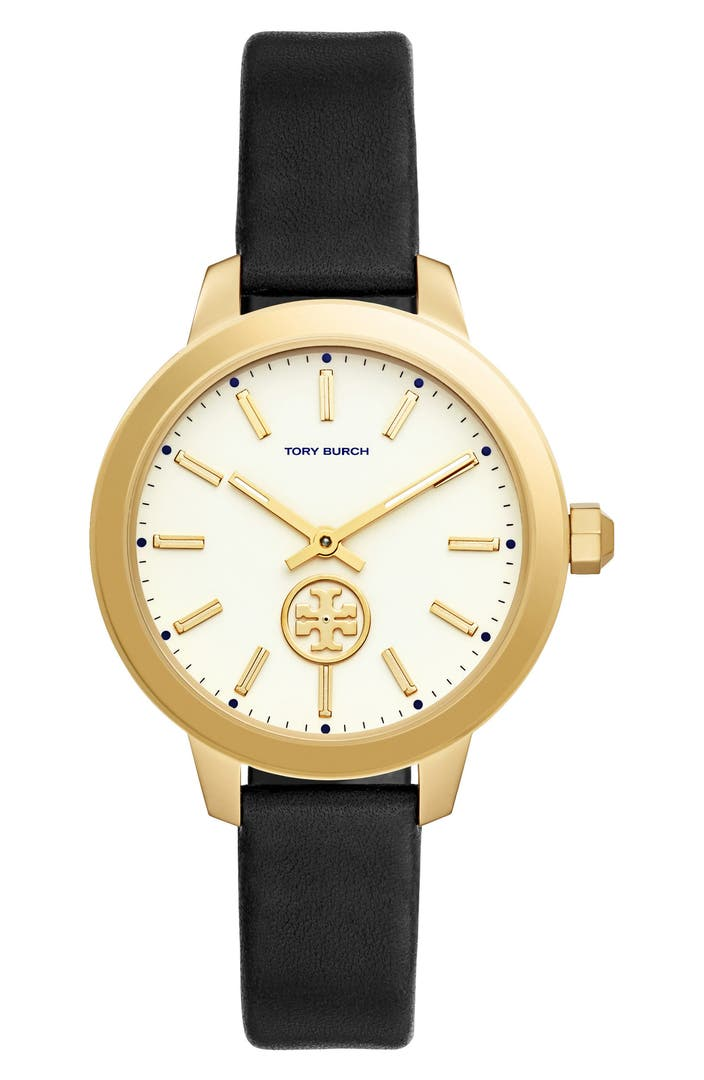 Tory burch collins leather strap watch 38mm nordstrom for Watches 38mm