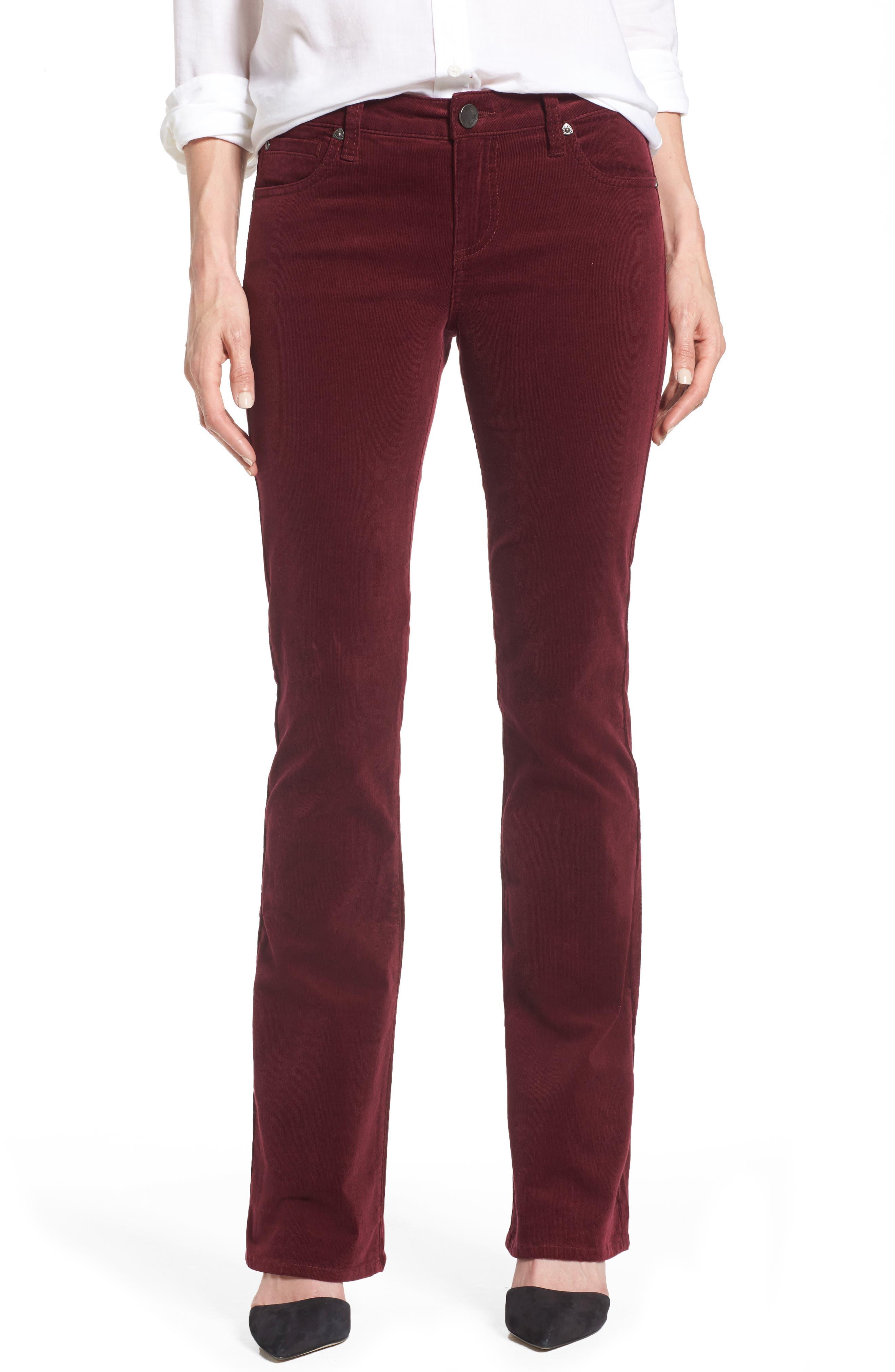 Baby Bootcut Corduroy Jeans,                         Main,                         color, Deep Burgundy