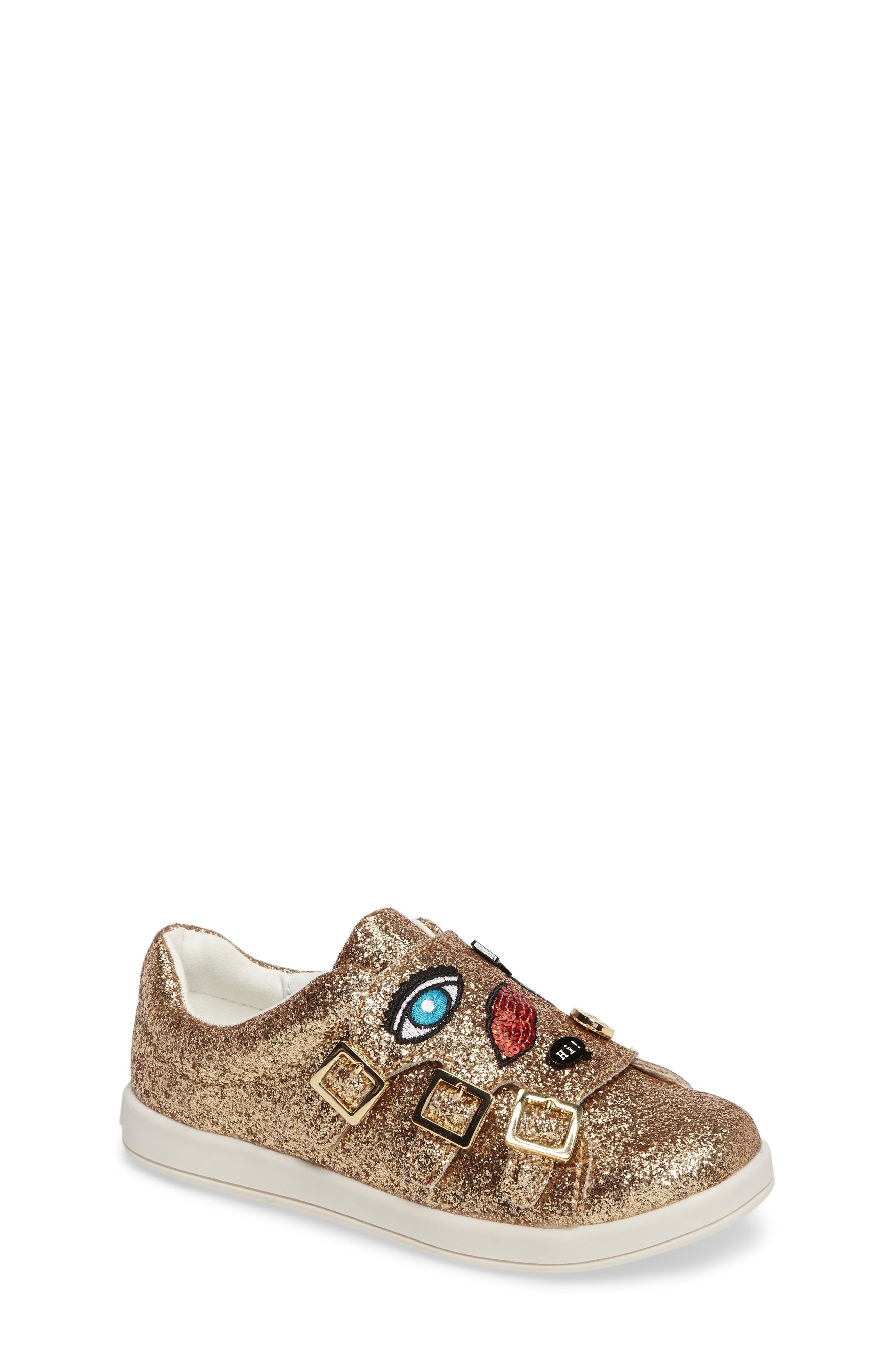 Sam Edelman Liv Wendy Glitter Emoji Sneaker (Walker, Toddler, Little Kid & Big Kid)