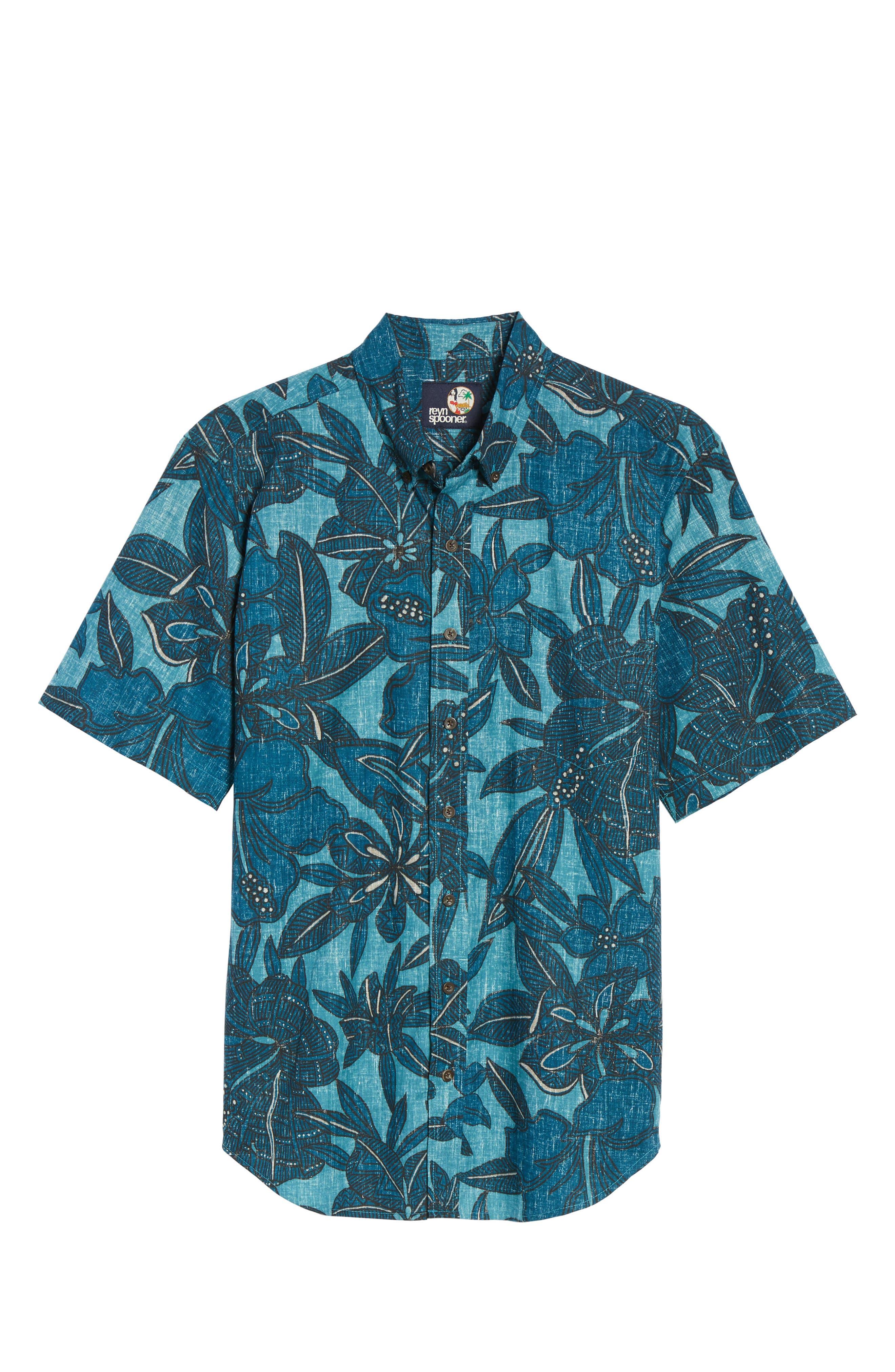 Alternate Image 6  - Reyn Spooner Tribal Blooms Classic Fit Sport Shirt