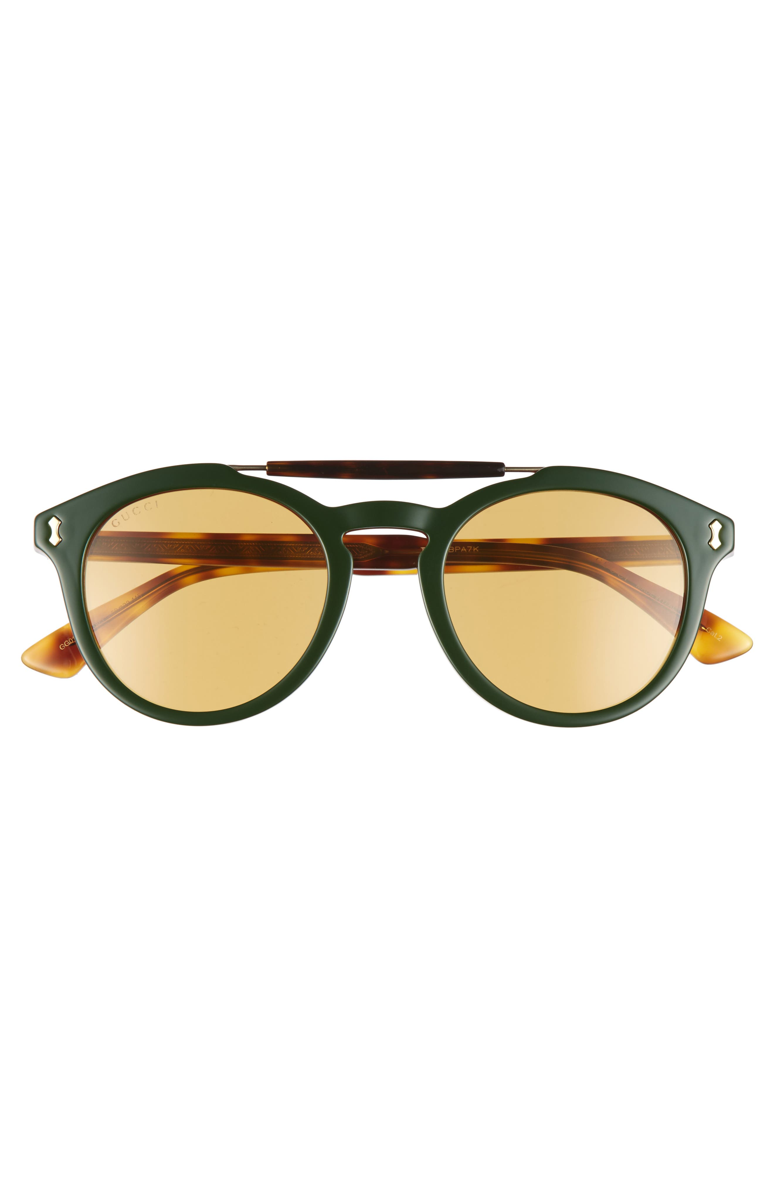Vintage Pilot 50mm Sunglasses,                             Alternate thumbnail 2, color,                             Green-Red Web/ Nicotine