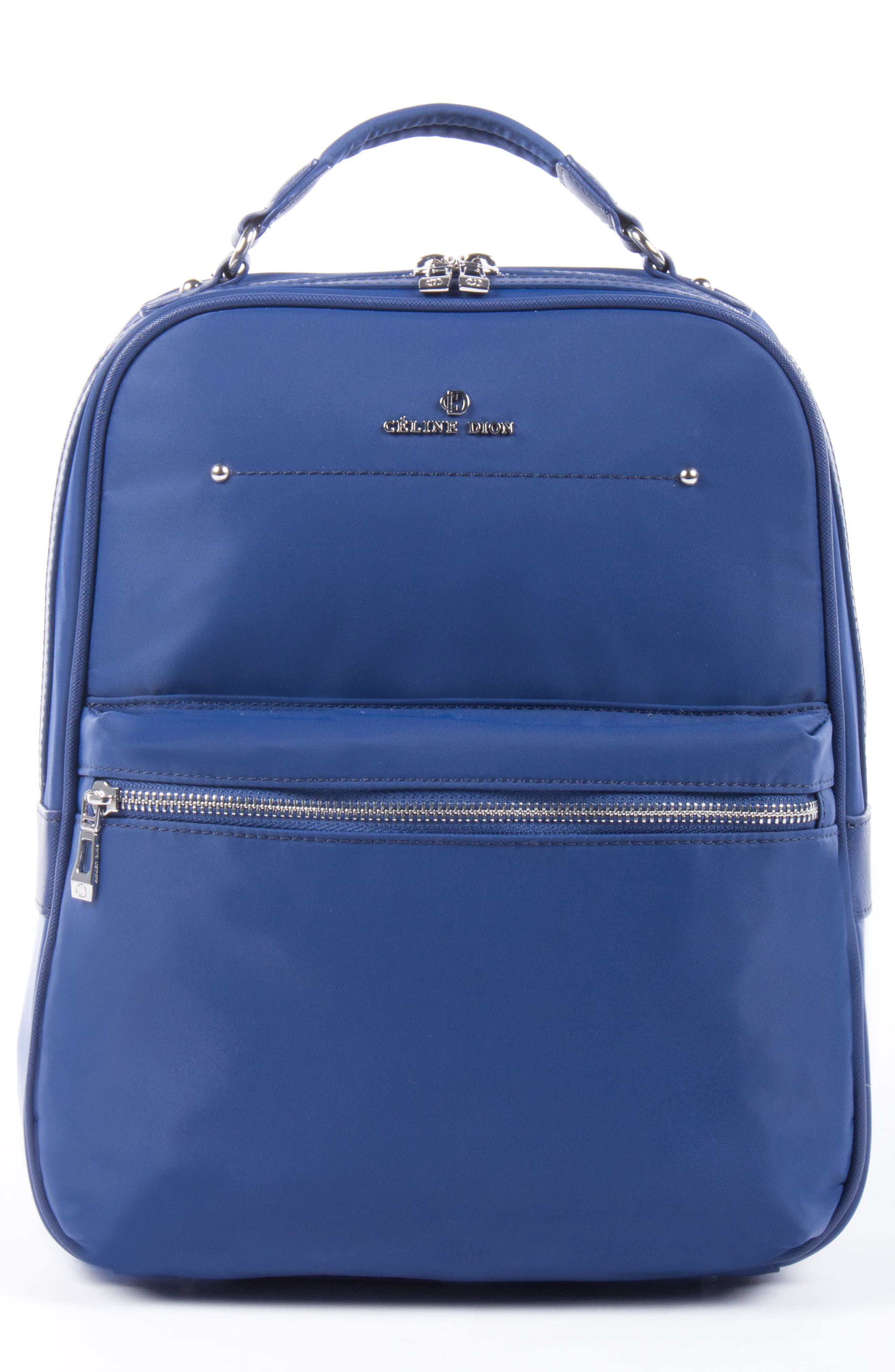 Céline Dion Presto Nylon Backpack,                             Main thumbnail 1, color,                             Blue