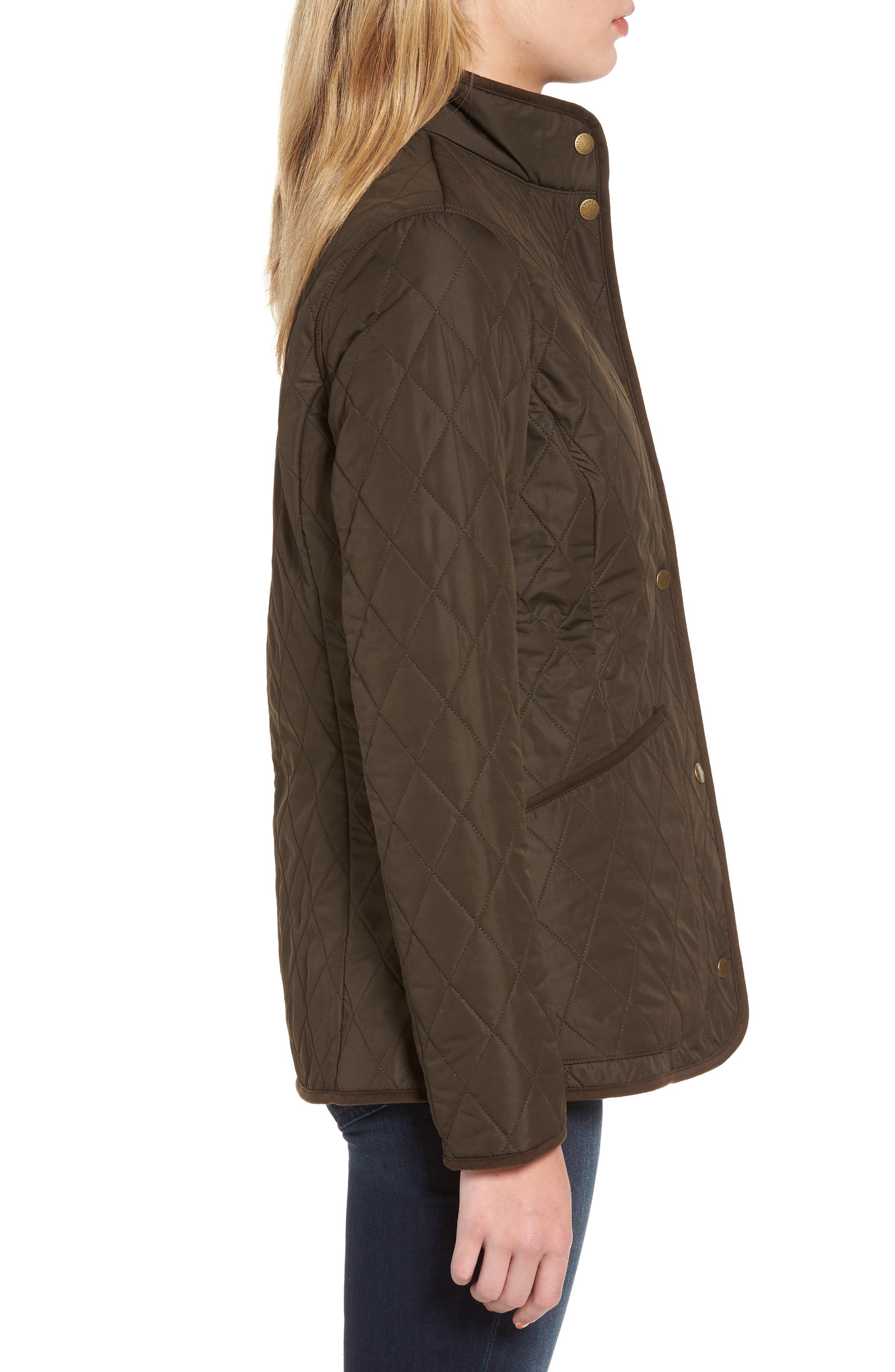 Combe Polarquilt Jacket,                             Alternate thumbnail 3, color,                             Olive