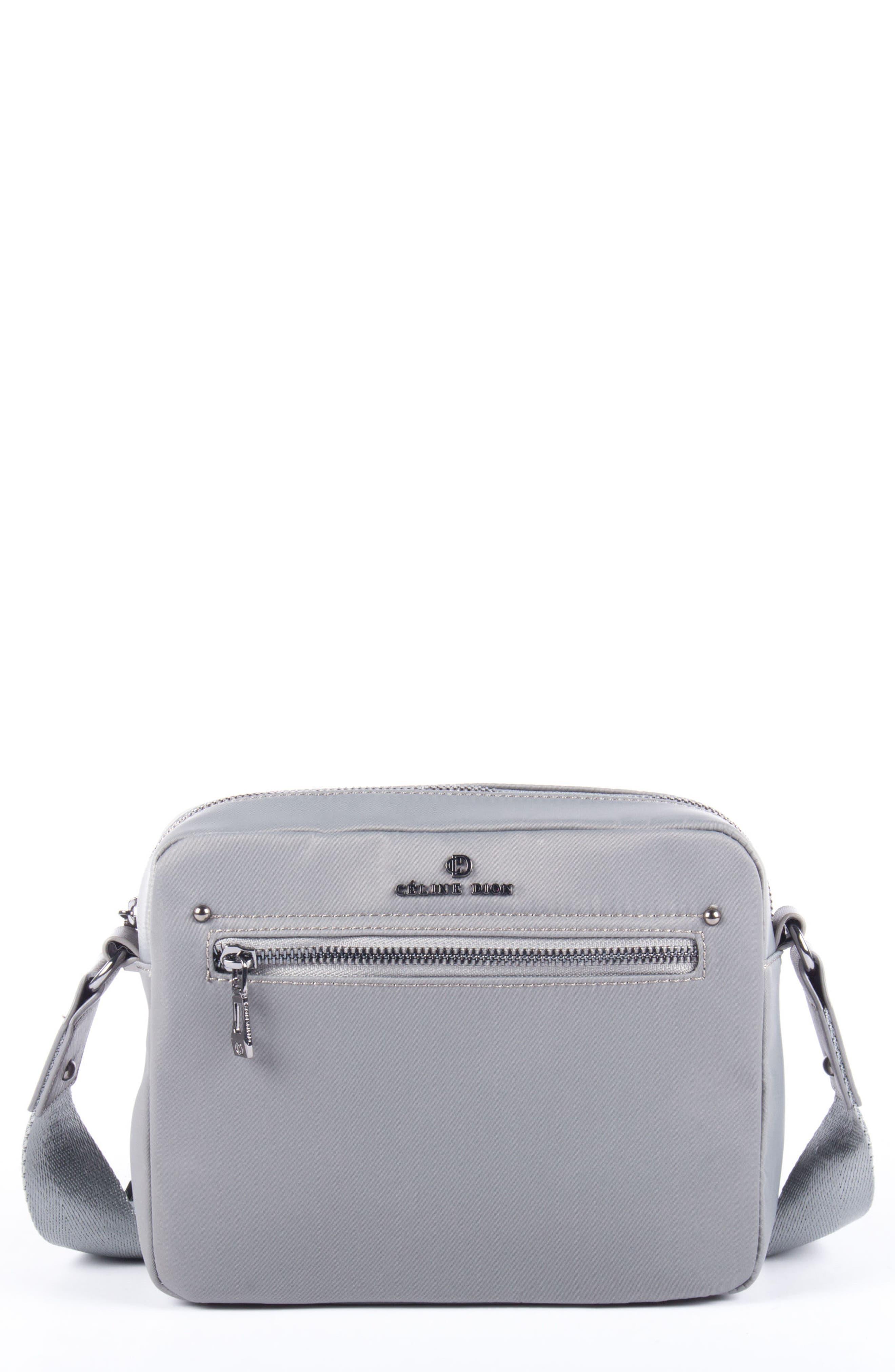 Céline Dion Presto Nylon Crossbody Bag,                             Main thumbnail 1, color,                             Grey