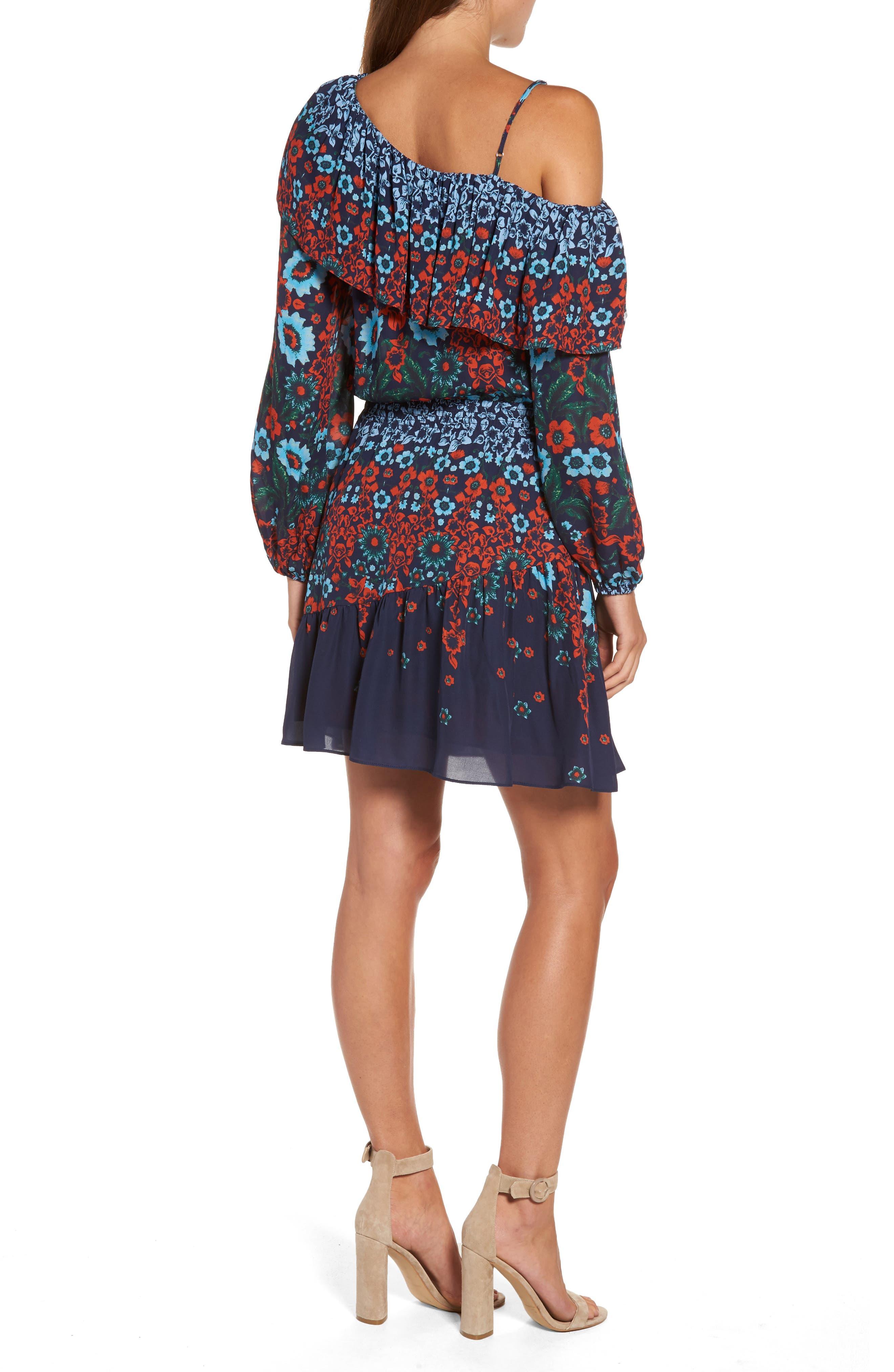 Alternate Image 2  - Parker Clarisse One-Shoulder Silk Dress