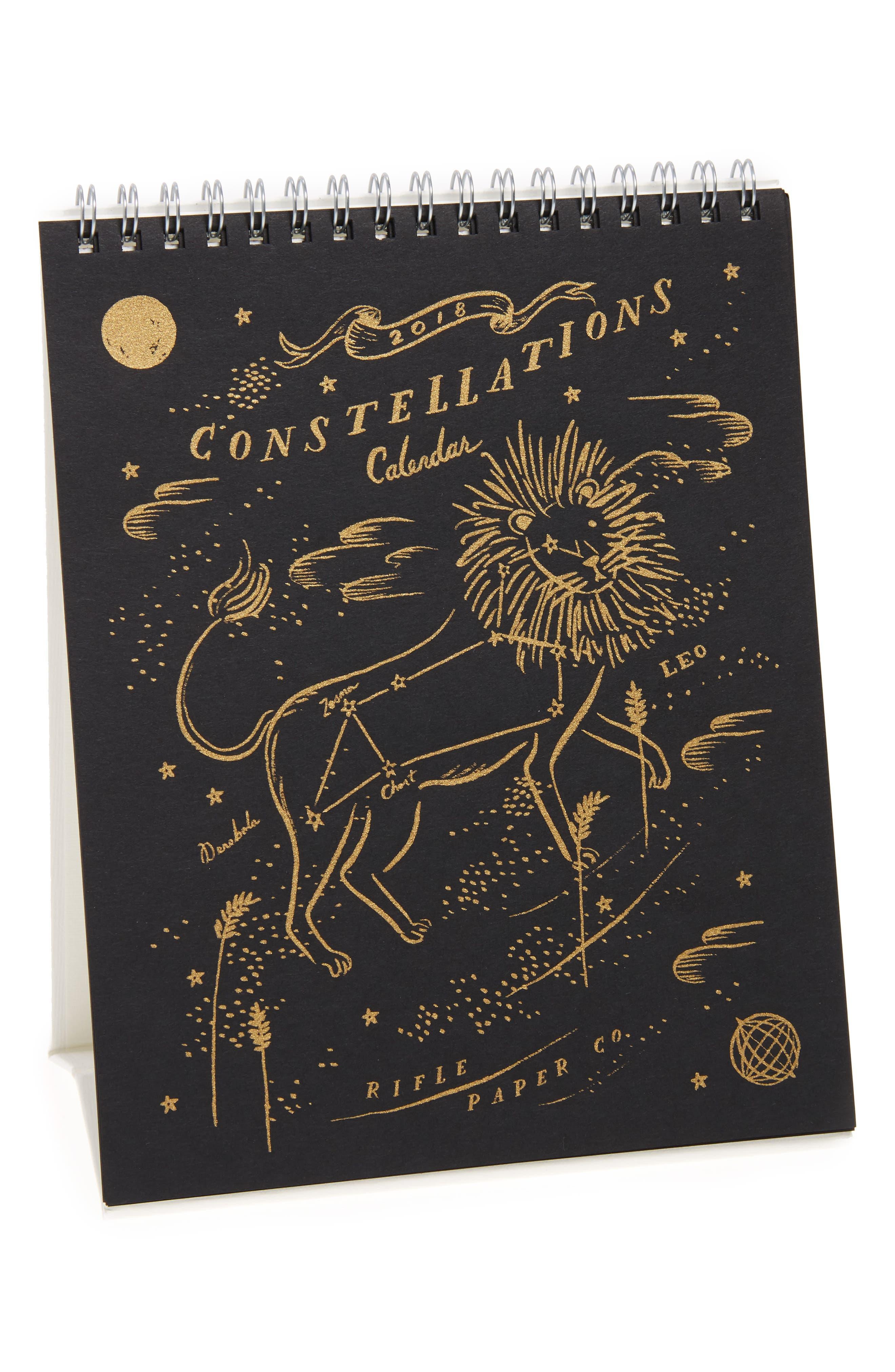 Rifle Paper Co. Constellations 2018 Desk Calendar