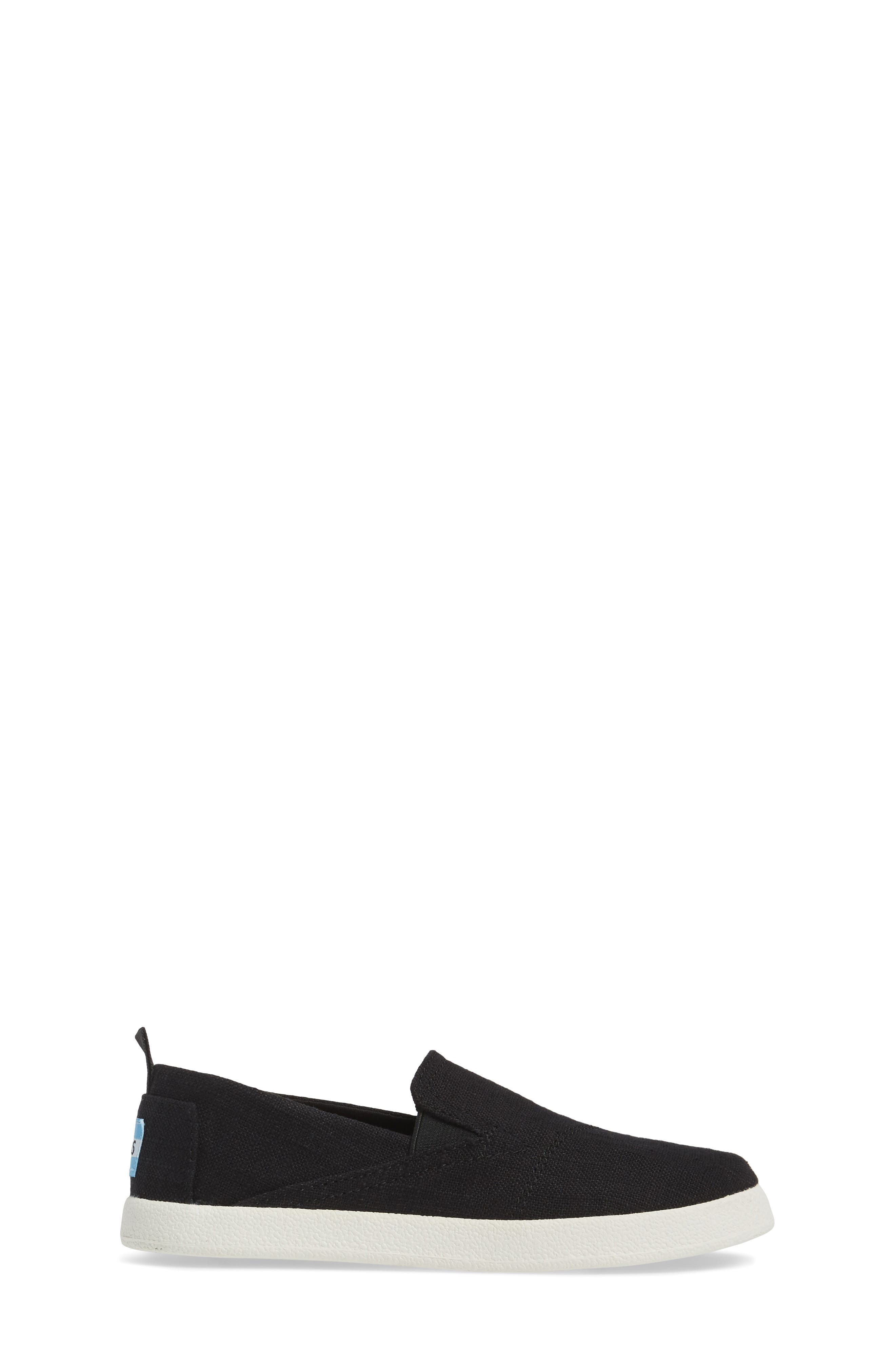 Avalon Slip-On,                             Alternate thumbnail 3, color,                             Black Washed Linen