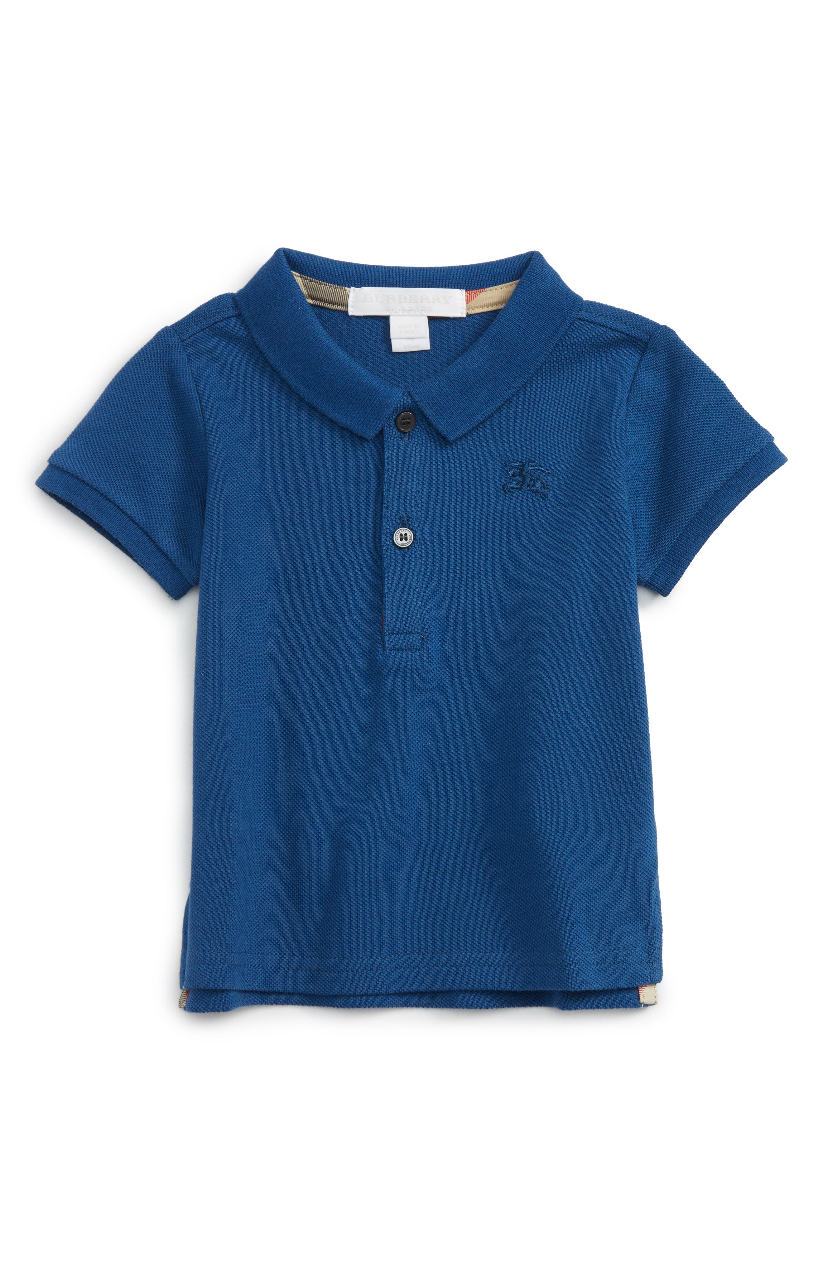 Alternate Image 1 Selected - Burberry Palmer Piqué Polo (Baby Boys)