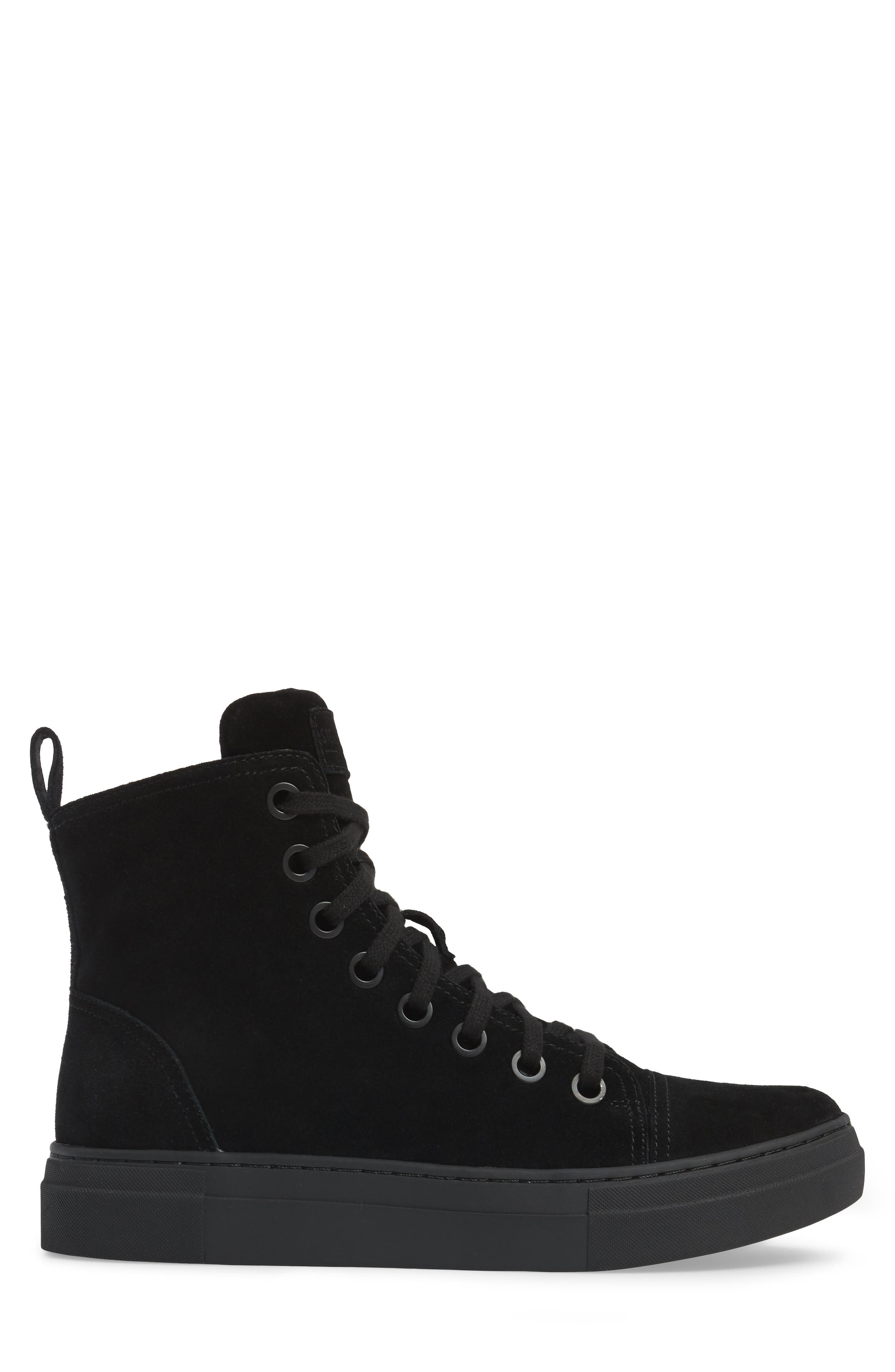 Ormisten Sneaker,                             Alternate thumbnail 3, color,                             Black Suede