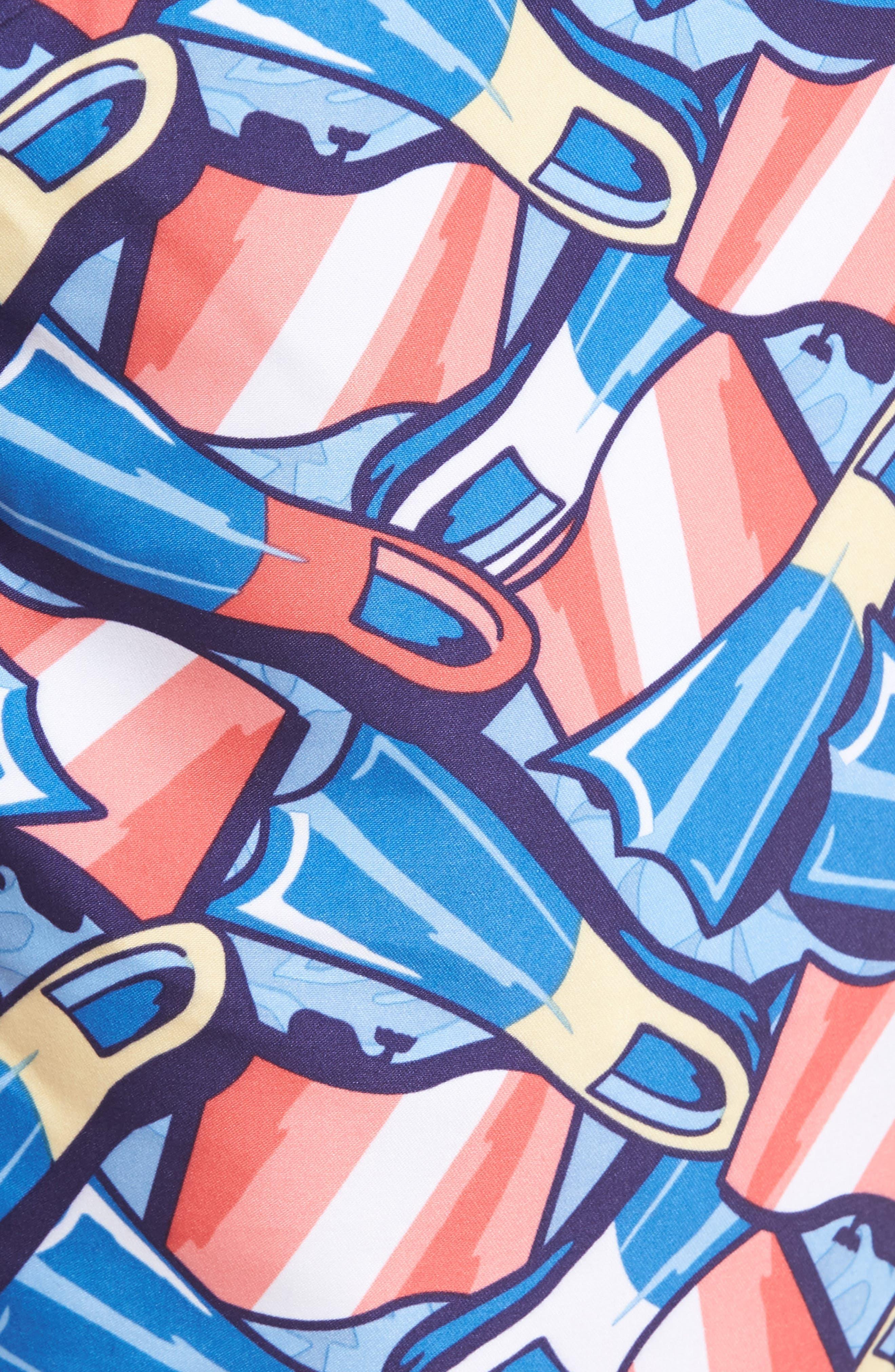 Flippers Chappy Swim Trunks,                             Alternate thumbnail 5, color,                             Dockside Blue