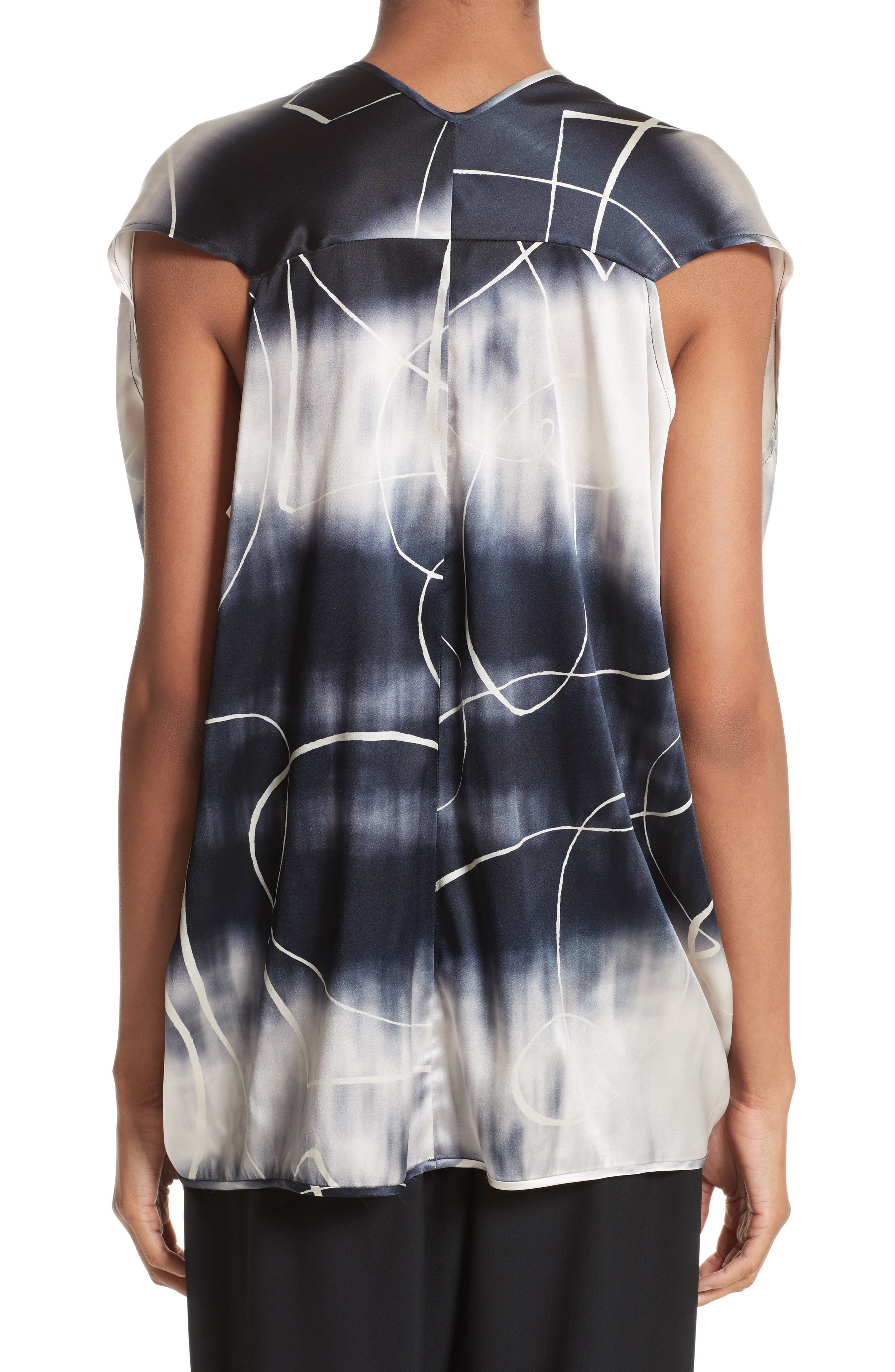 Ani Elliott X-Ray Stretch Silk Tank,                             Alternate thumbnail 3, color,                             Elliot X-Ray