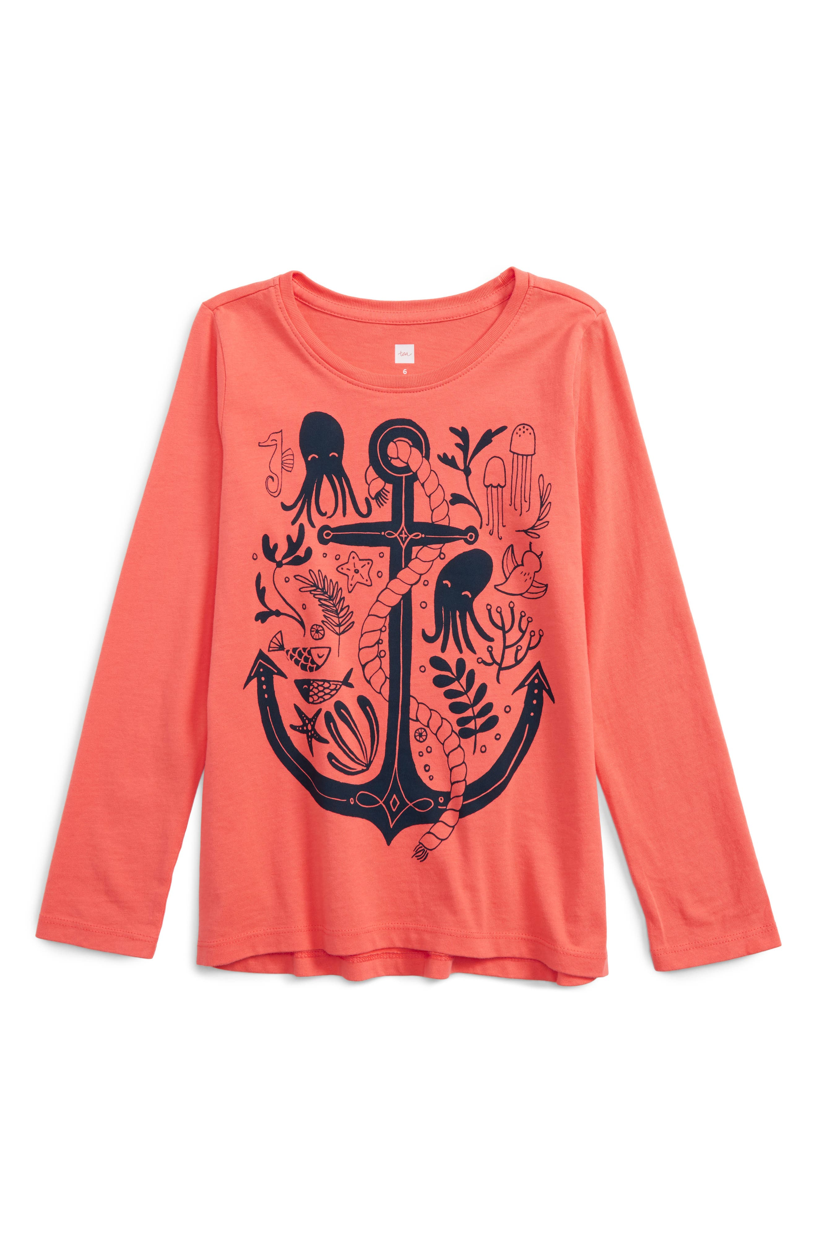 Main Image - Tea Collection River Polly Graphic Tee (Toddler Girls, Little Girls & Big Girls)