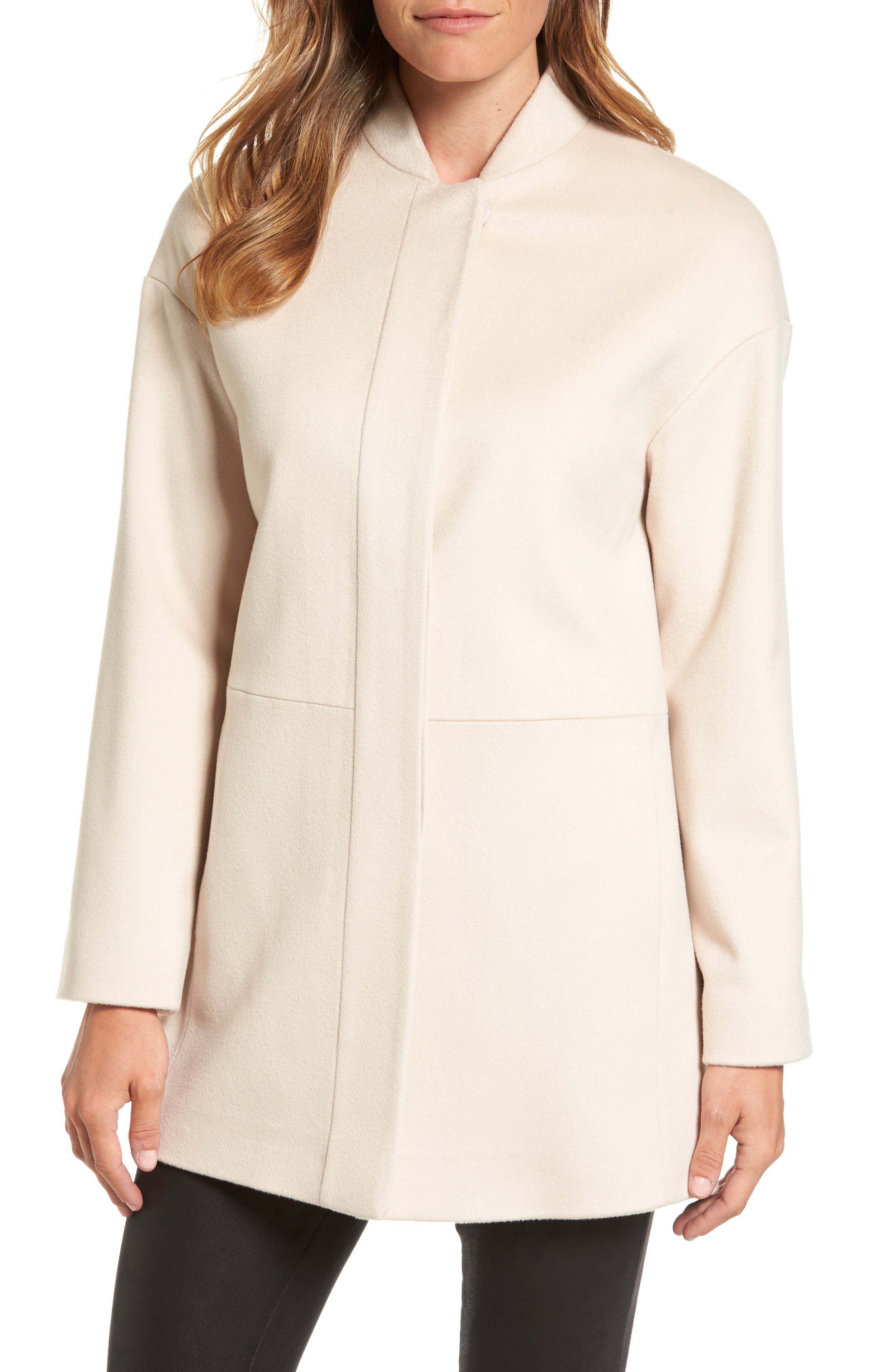 Loro Piana Wool Coat,                         Main,                         color, Blanco
