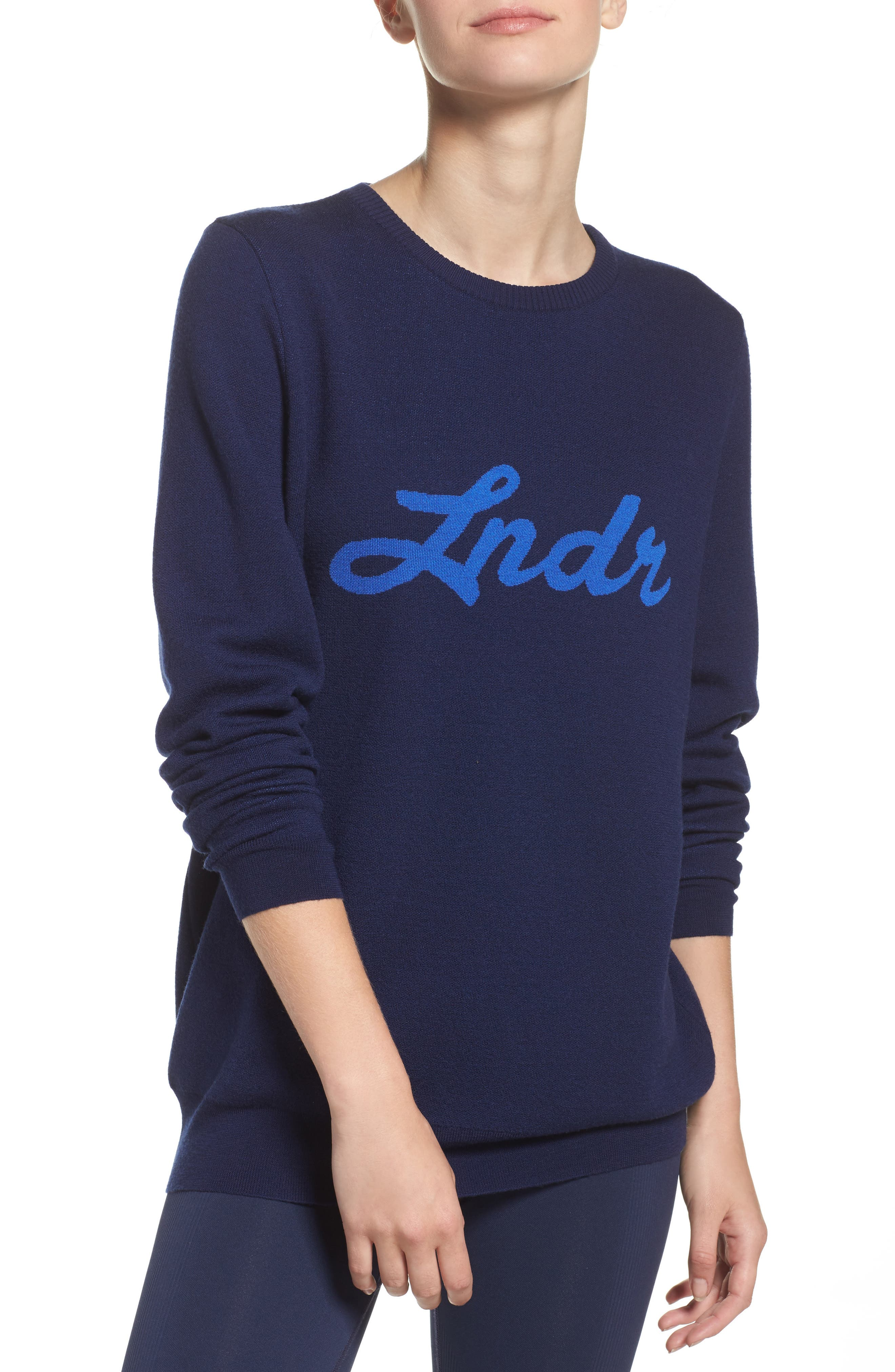 Double Happiness Pullover,                         Main,                         color, Navy