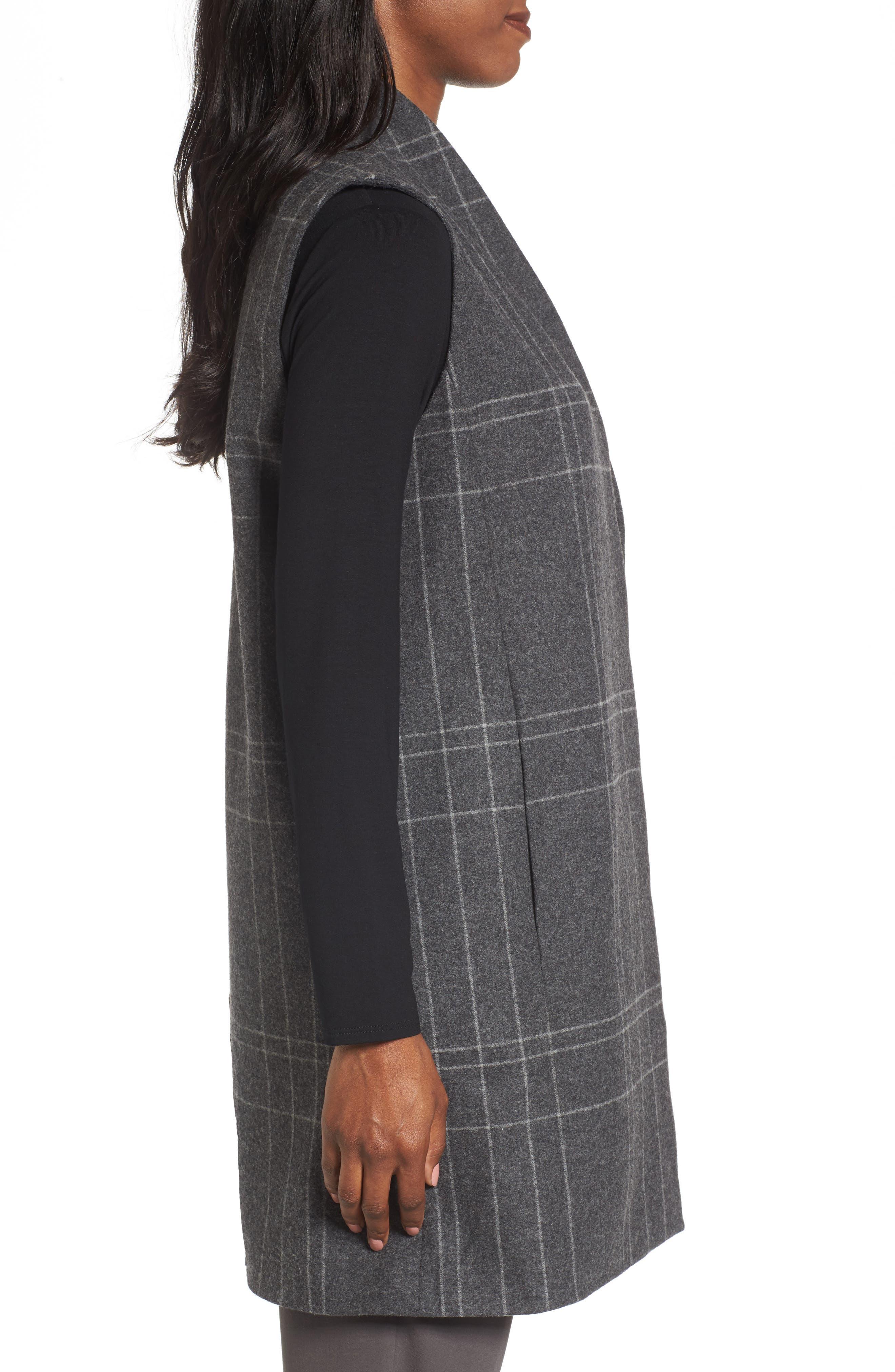 Alternate Image 3  - Eileen Fisher Long Plaid Vest