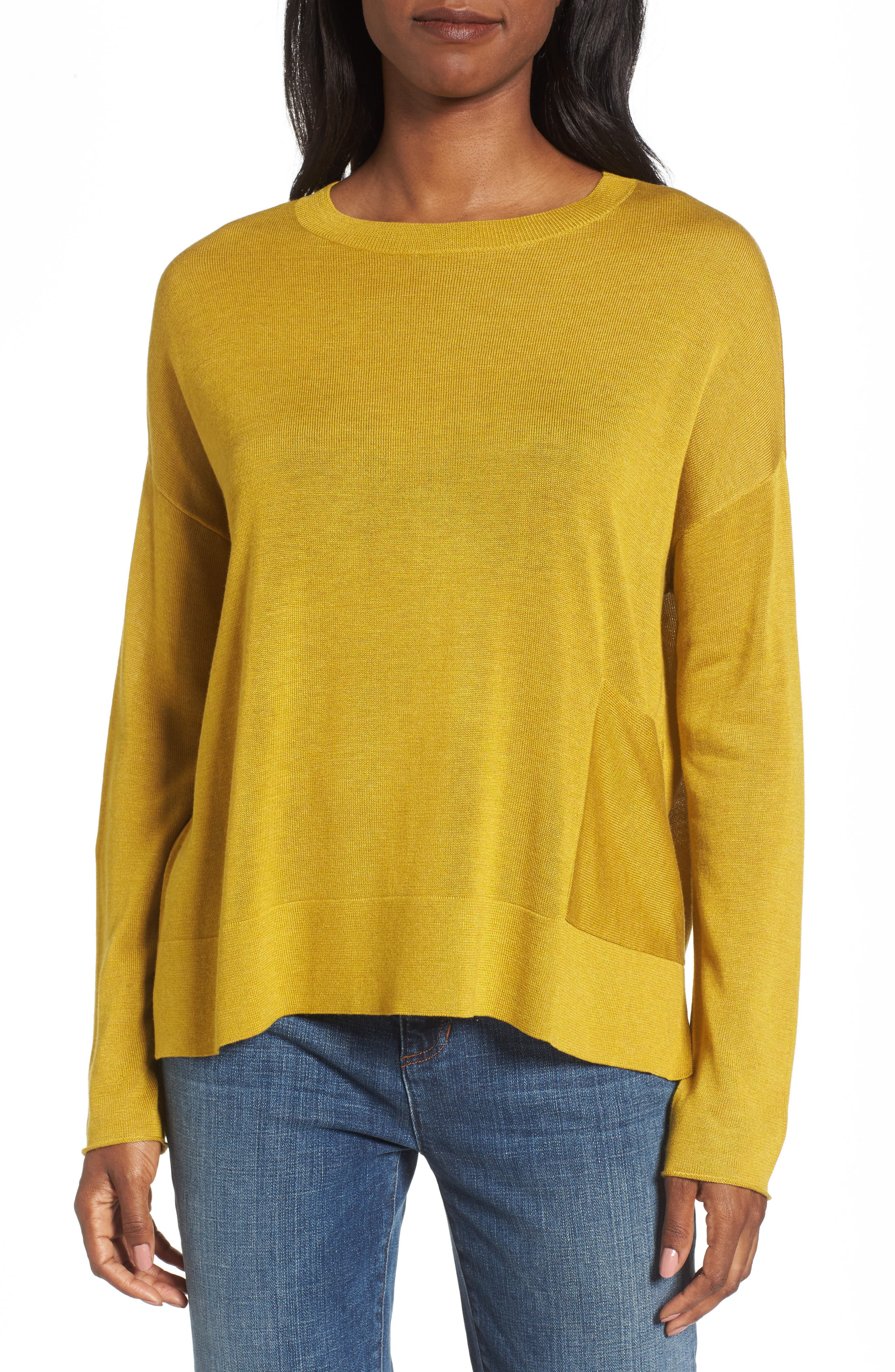Alternate Image 1 Selected - Eileen Fisher Tencel® Blend Sweater