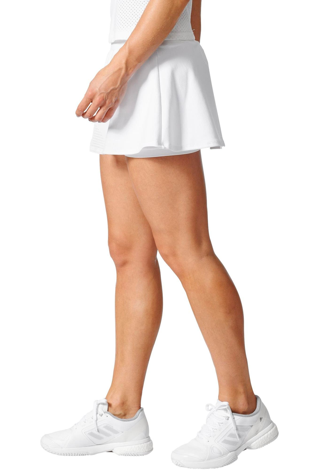 Barricade Climacool<sup>®</sup> Tennis Skirt,                             Alternate thumbnail 3, color,                             White