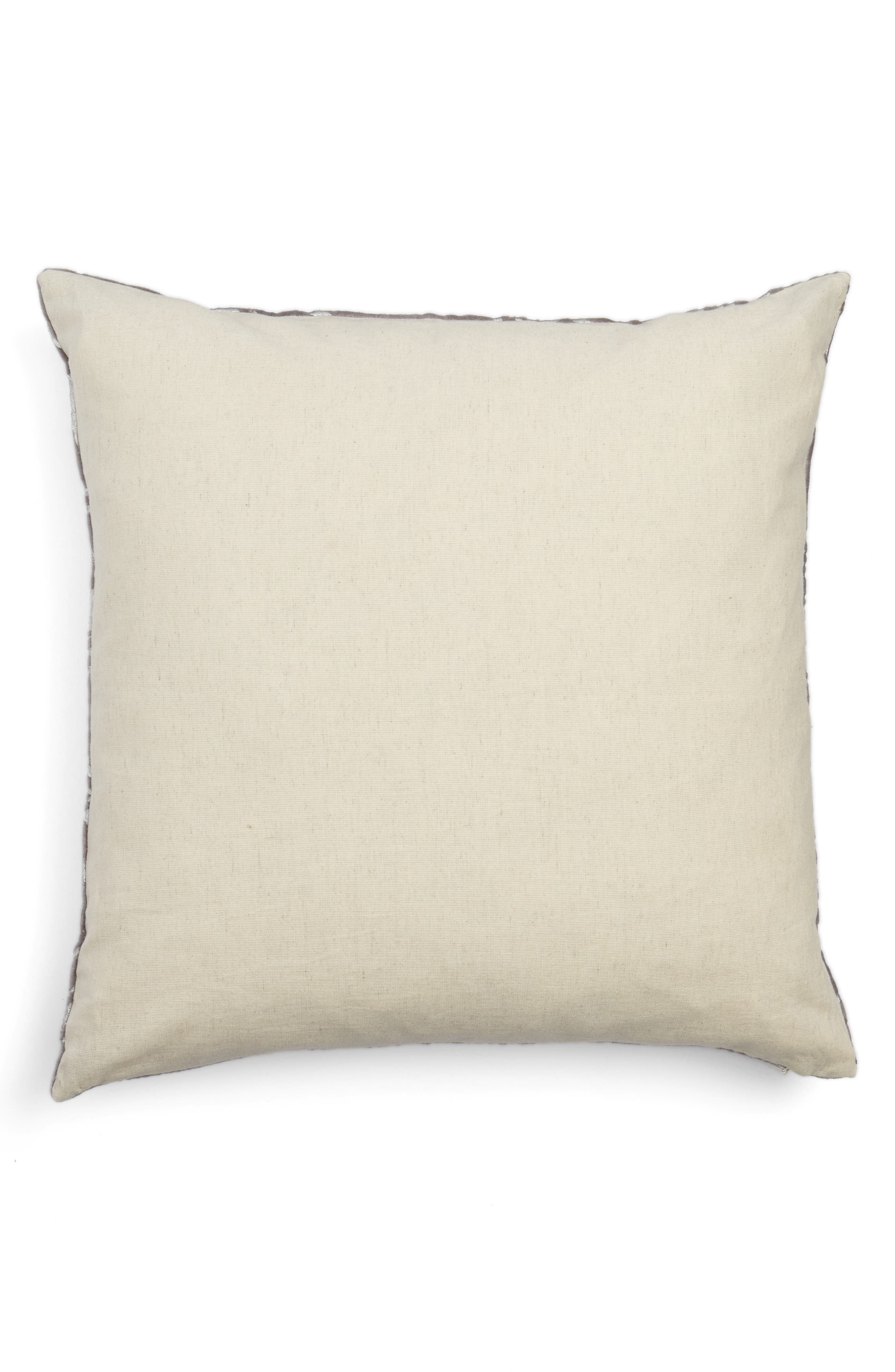 Foil Print Pillow,                             Alternate thumbnail 2, color,                             Grey Frost