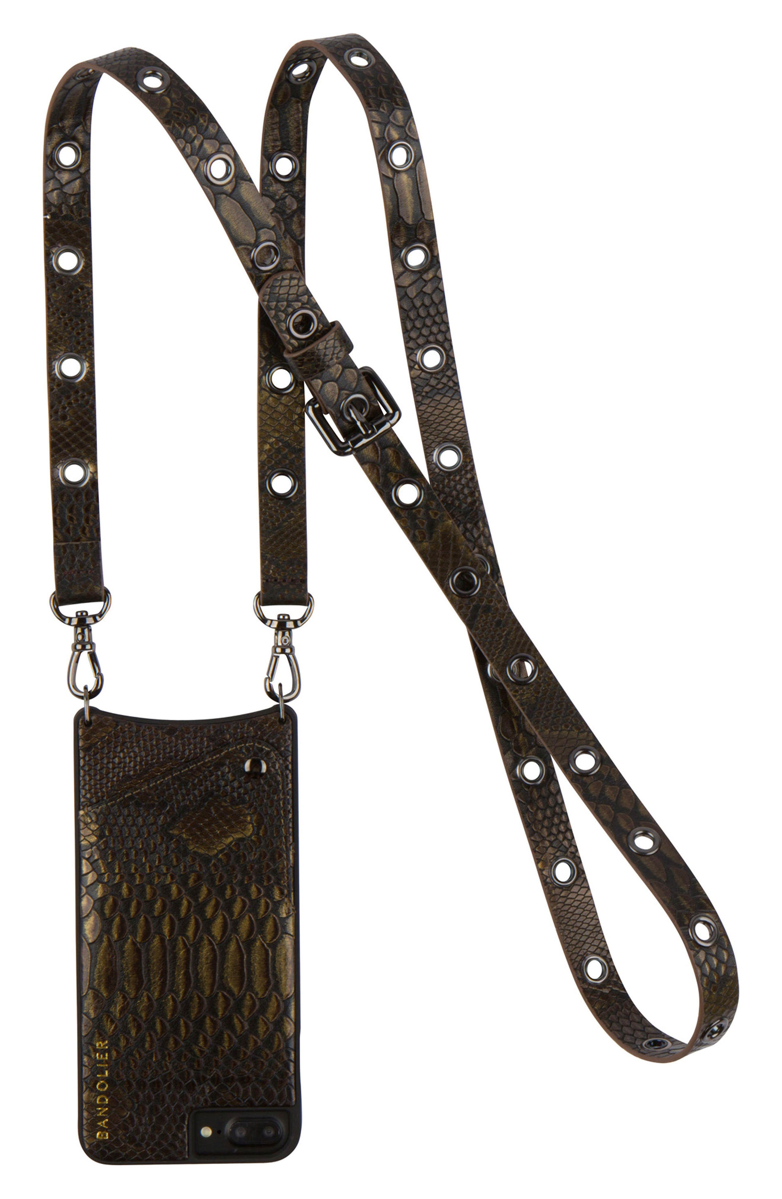 BANDOLIER Roxanne Leather iPhone 6/7 & 6/7 Plus Crossbody Case