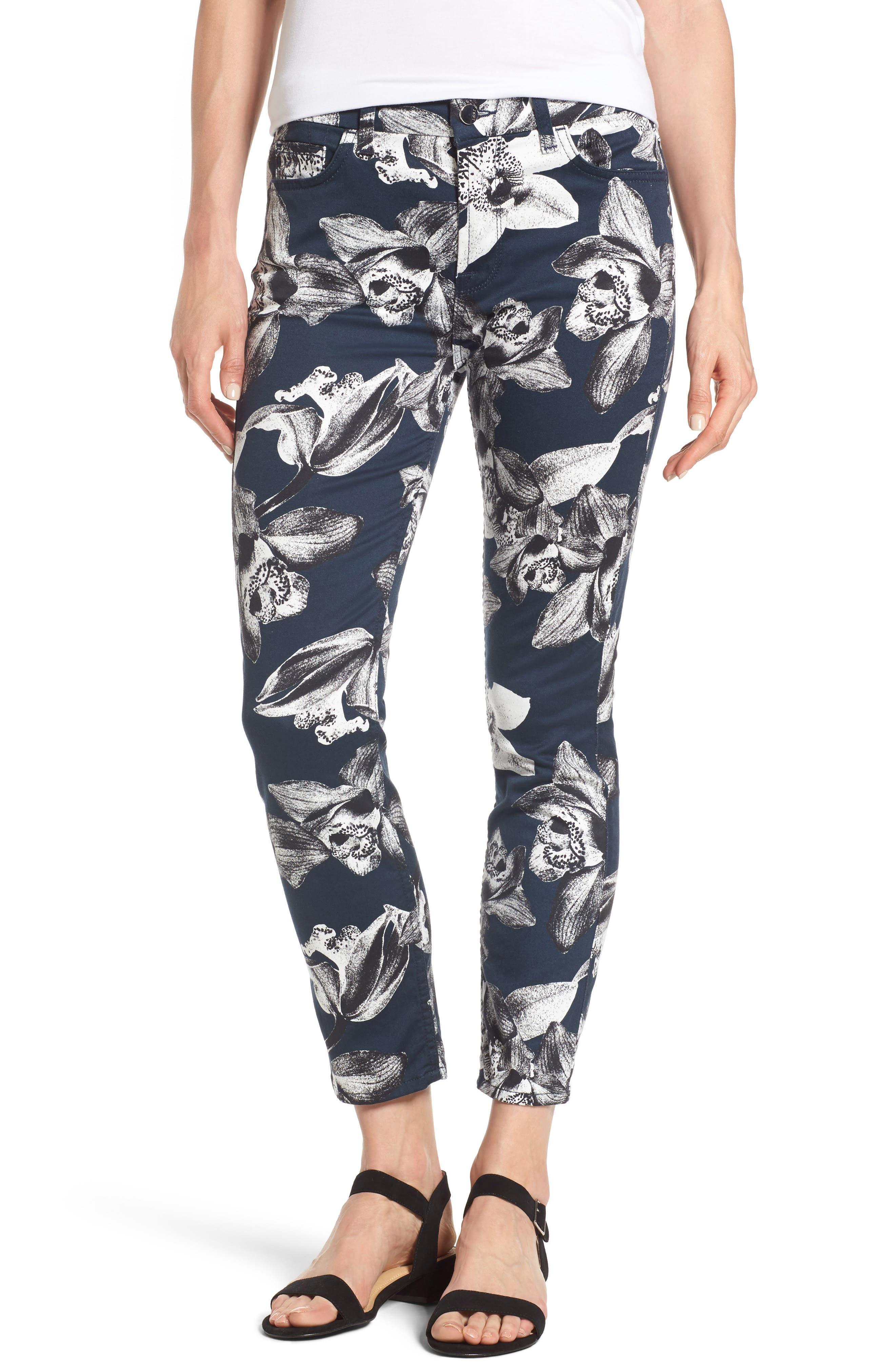 Alternate Image 1 Selected - Jen7 Print Crop Skinny Jeans