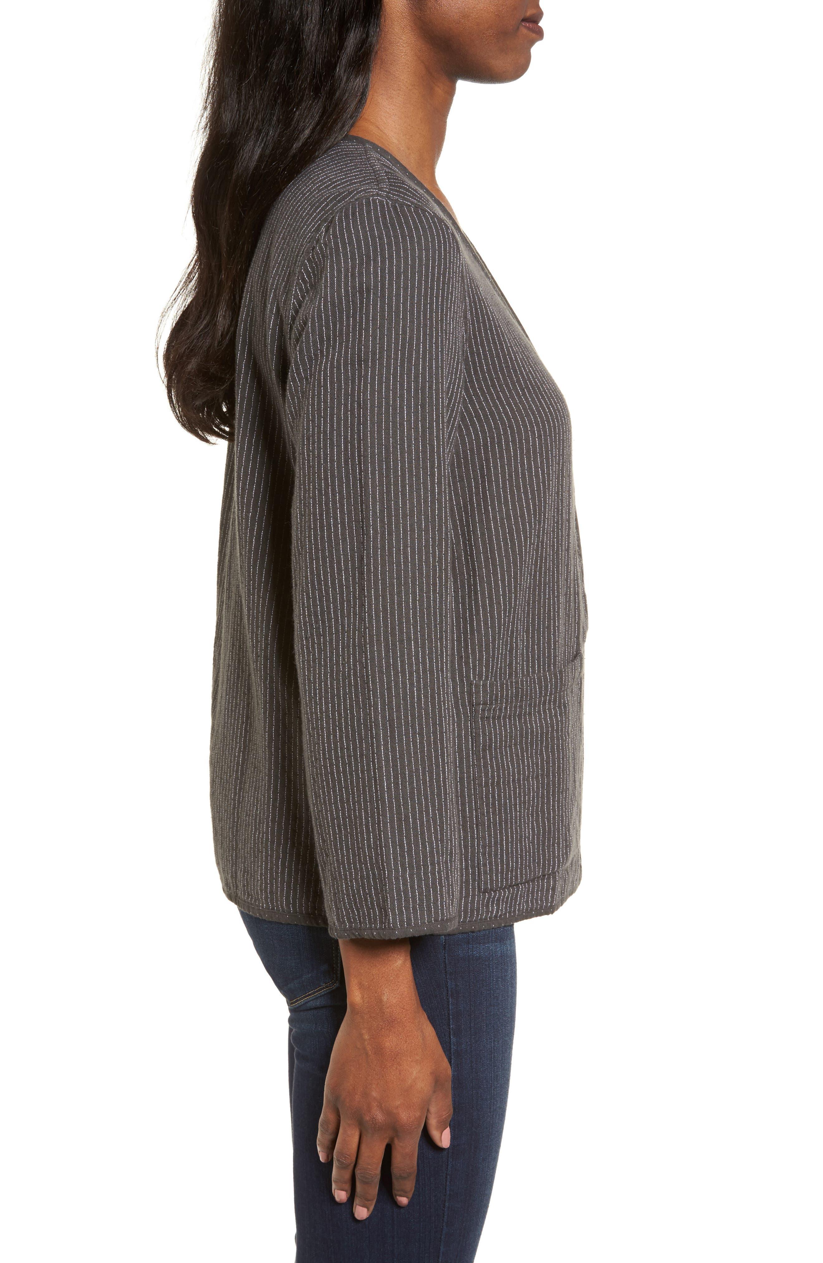 Alternate Image 4  - Eileen Fisher Reversible Organic Cotton Jacket