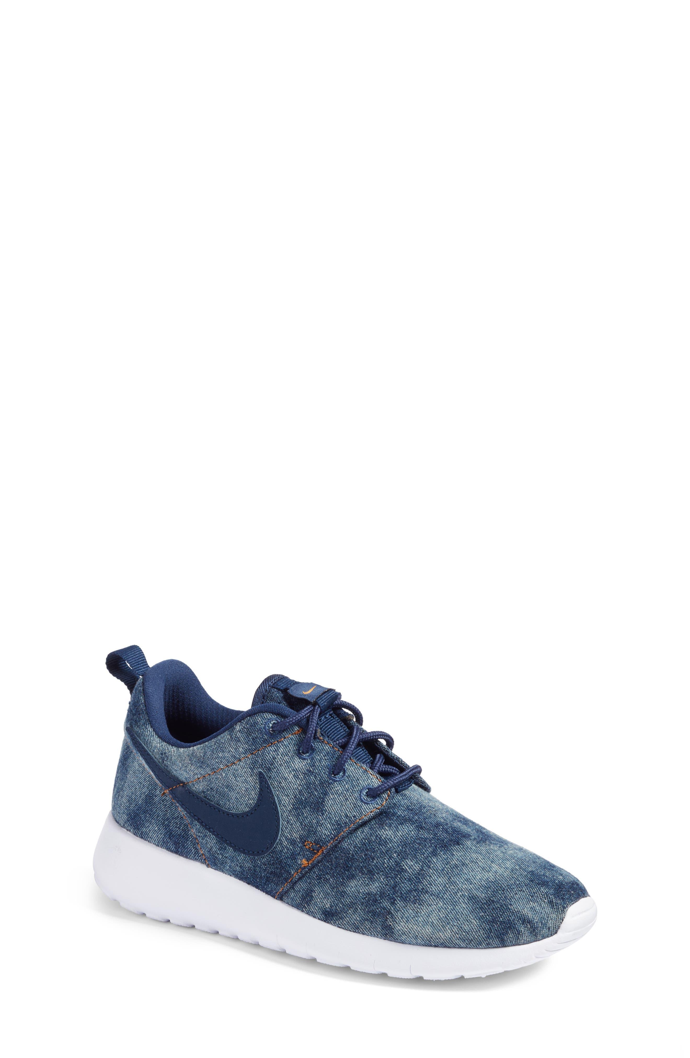 nike shoes for girls blue. Nike Roshe One SE Sneaker (Big Kid) Shoes For Girls Blue L