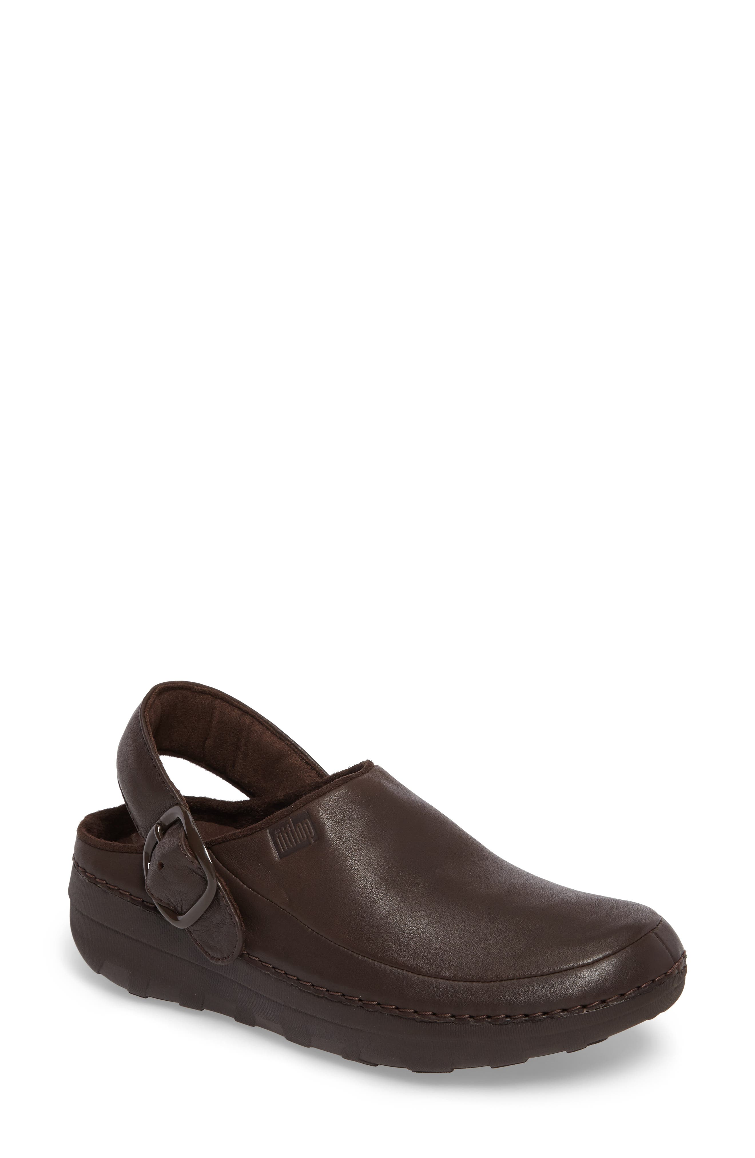Gogh Pro - Superlight Clog,                             Main thumbnail 1, color,                             Chocolate Brown Leather