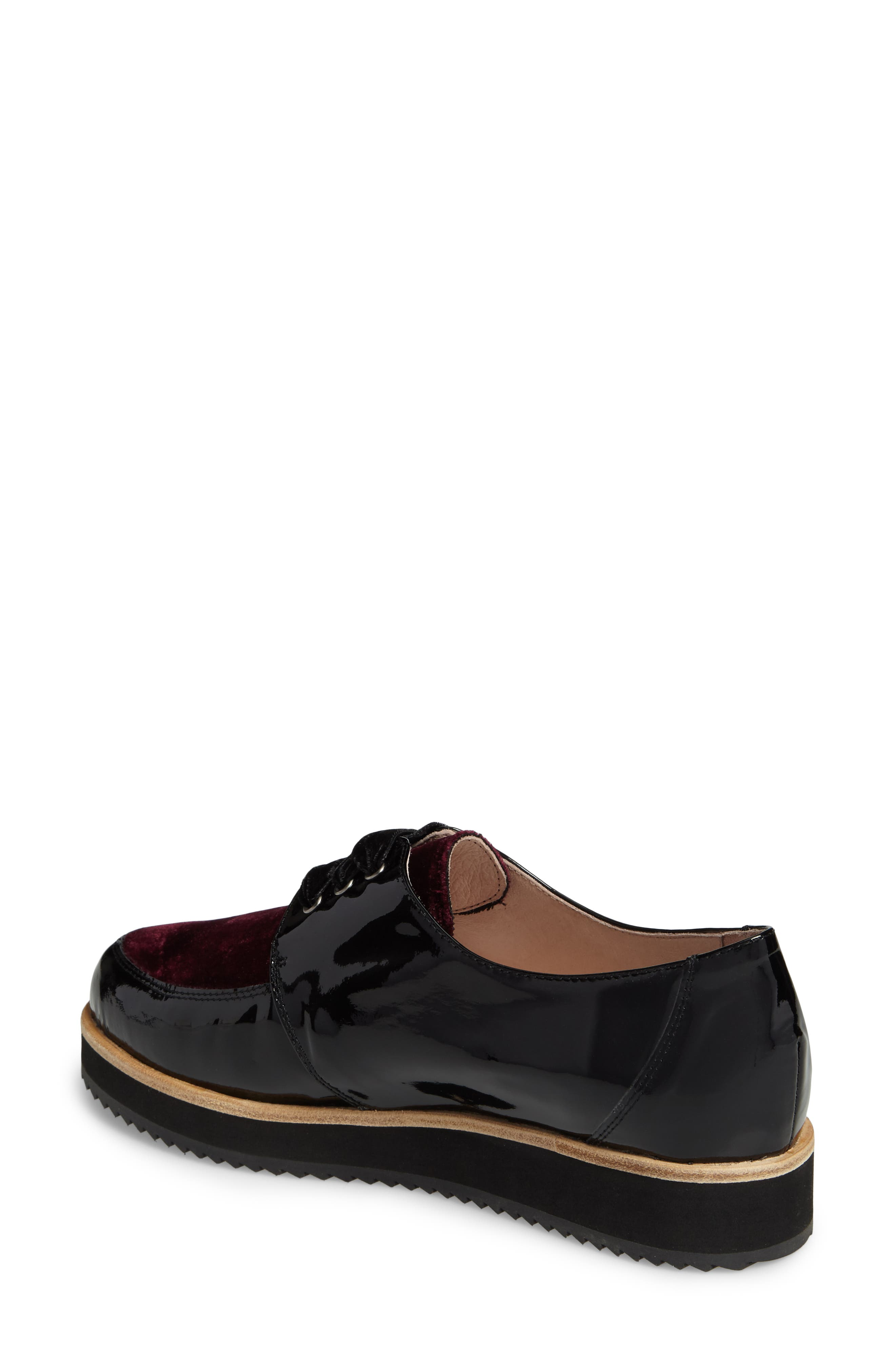 Reese Platform Oxford,                             Alternate thumbnail 2, color,                             Burgundy Patent