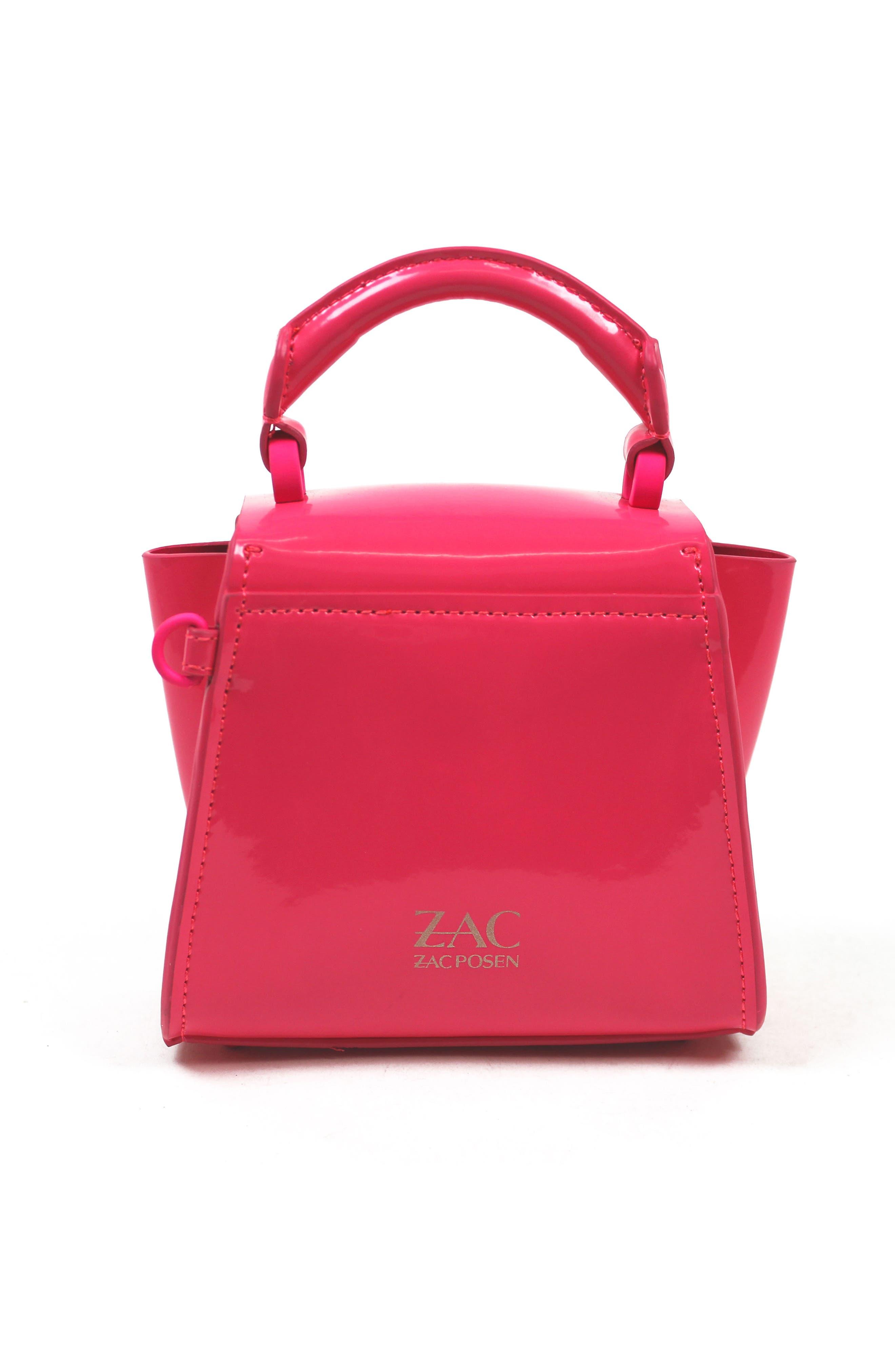 Eartha Iconic Patent Leather Mini Bag,                             Alternate thumbnail 2, color,                             Neon Pink