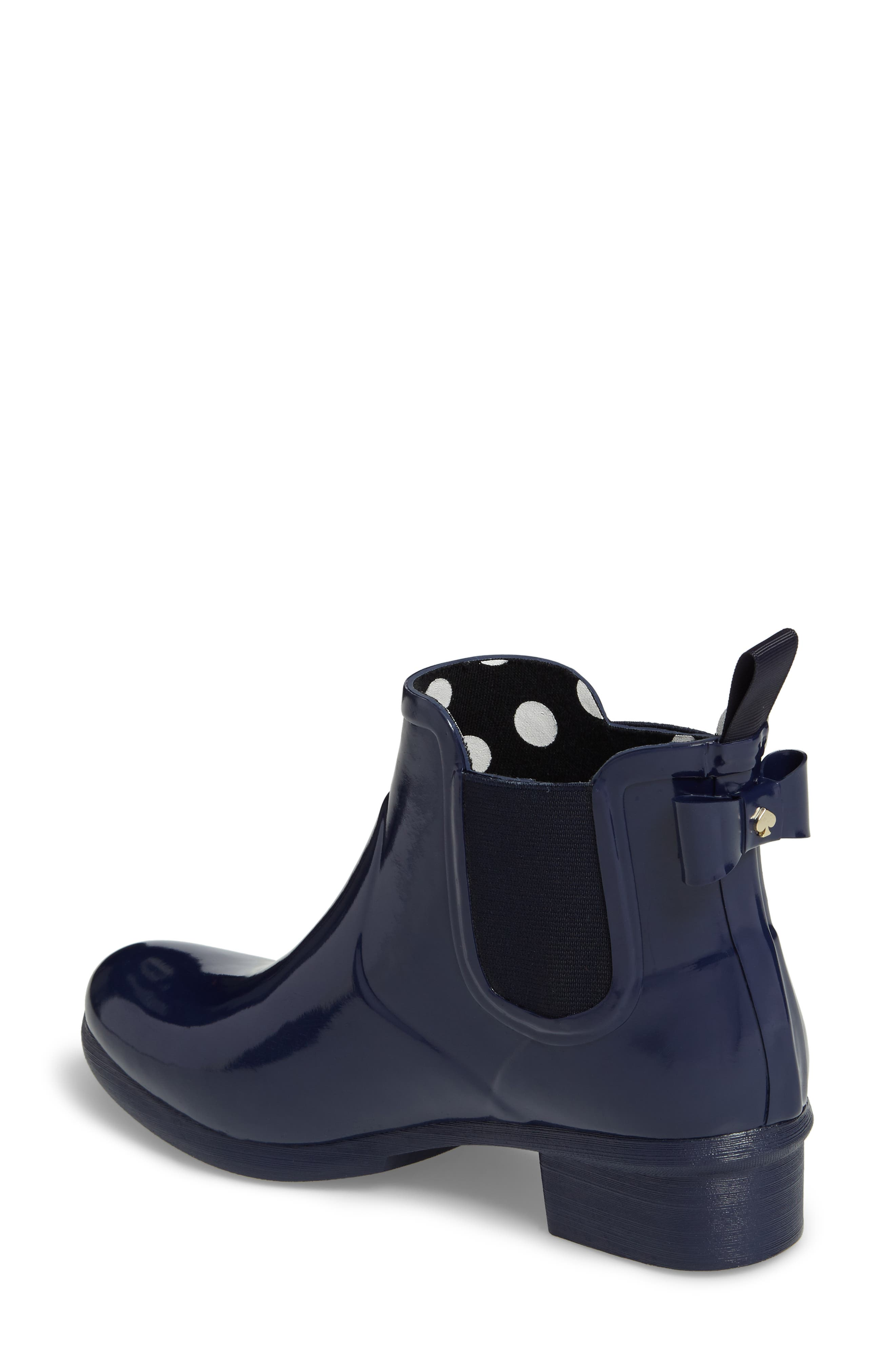 telly chelsea rain bootie,                             Alternate thumbnail 2, color,                             New Navy Shiny Rubber